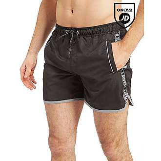 Supply & Demand Black Tape Swin Shorts