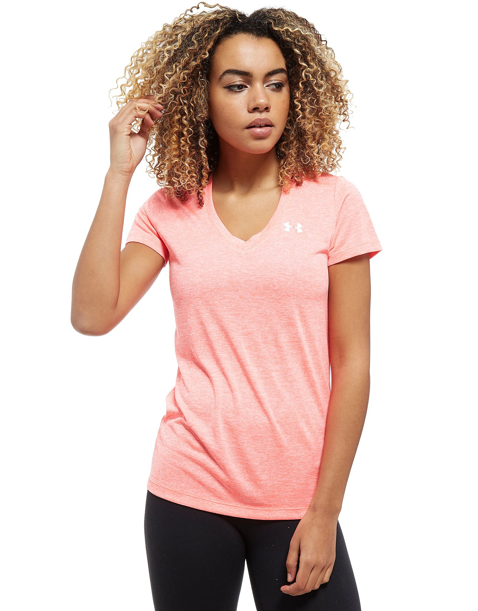 Under Armour Tech Twist V-Neck T-Shirt Dames - Roze - Dames