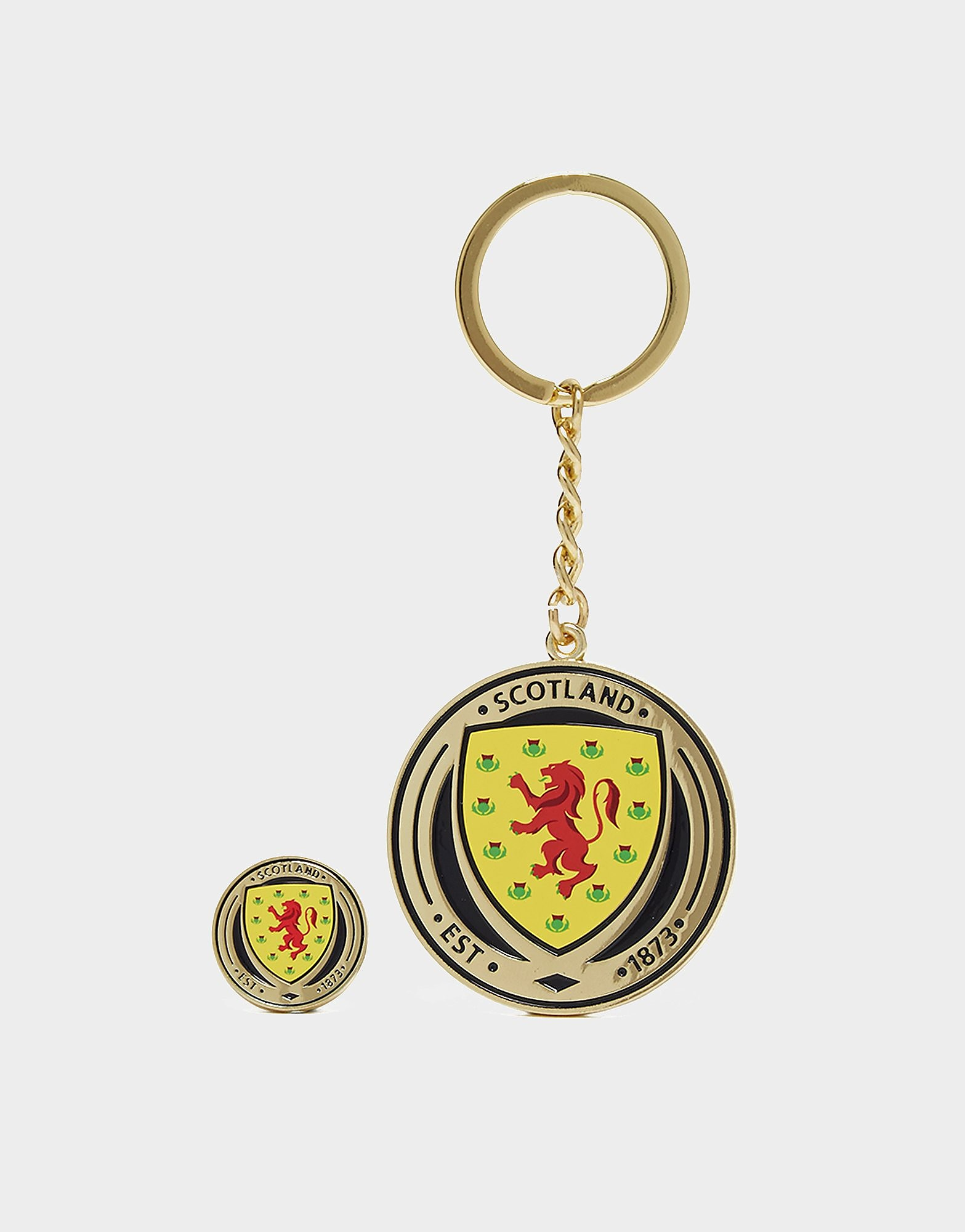 Official Team Scotland FA-sleutelhanger en badge