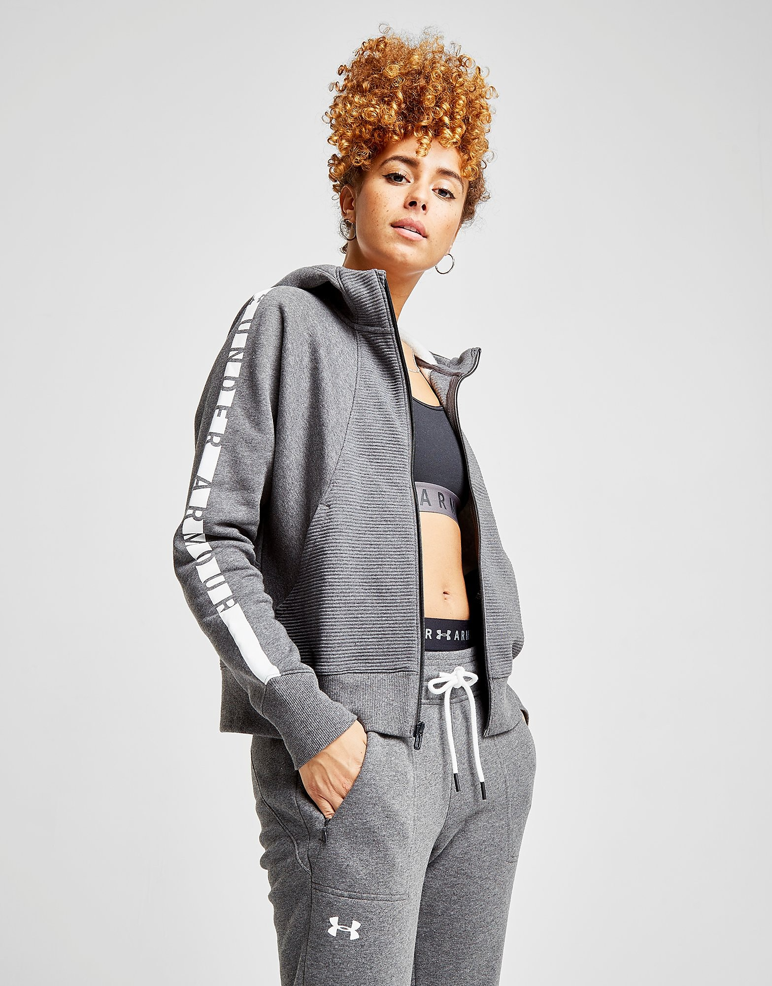 Under Armour Panel Fleece Hoodie Dames - Grijs - Dames