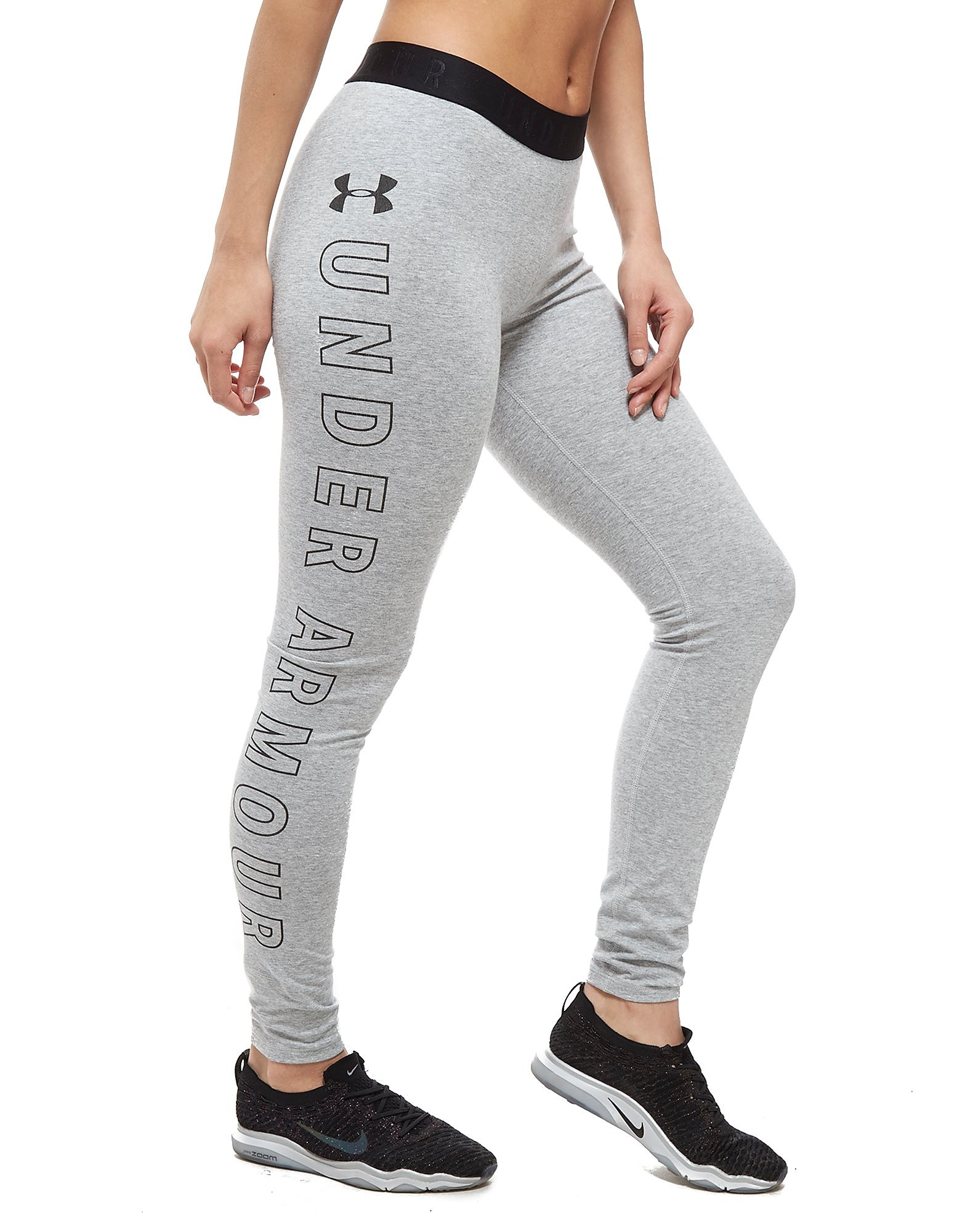 Under Armour Legging Favourite Graphic Femme - Grey/Black, Grey/Black