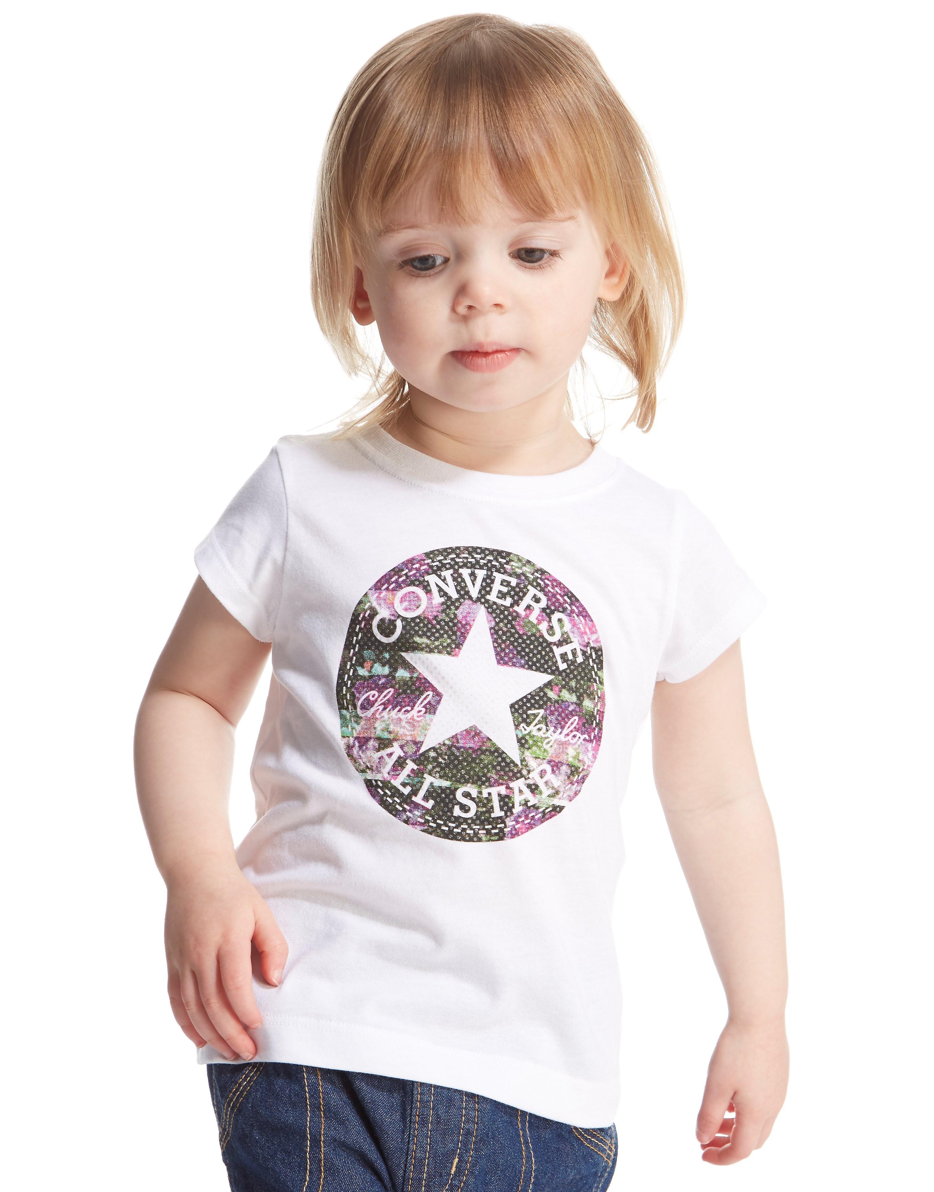 Converse Girls' Chuck Patch Floral Fill T-Shirt Infant