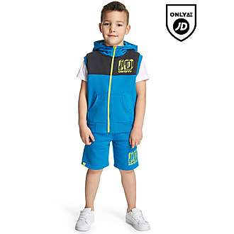 Carbrini Buck Sleeveless Hoody and Short Set Children