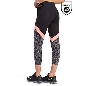 Pink Soda Sport Space Dye Capri Leggings