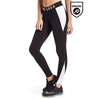 Pink Soda Sport Contrast Fitness Tights