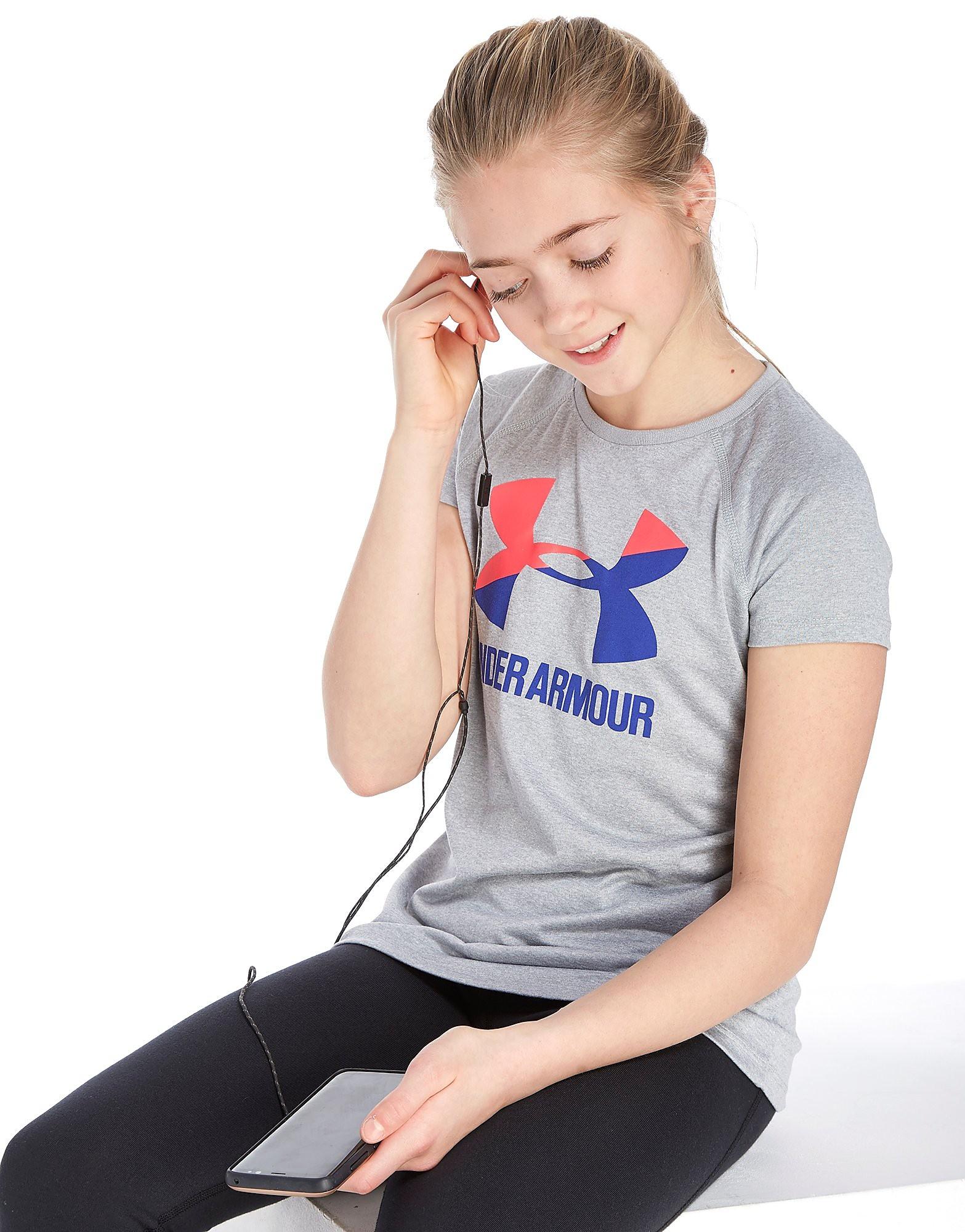 Under Armour Girls' Poly Logo T-Shirt Junior