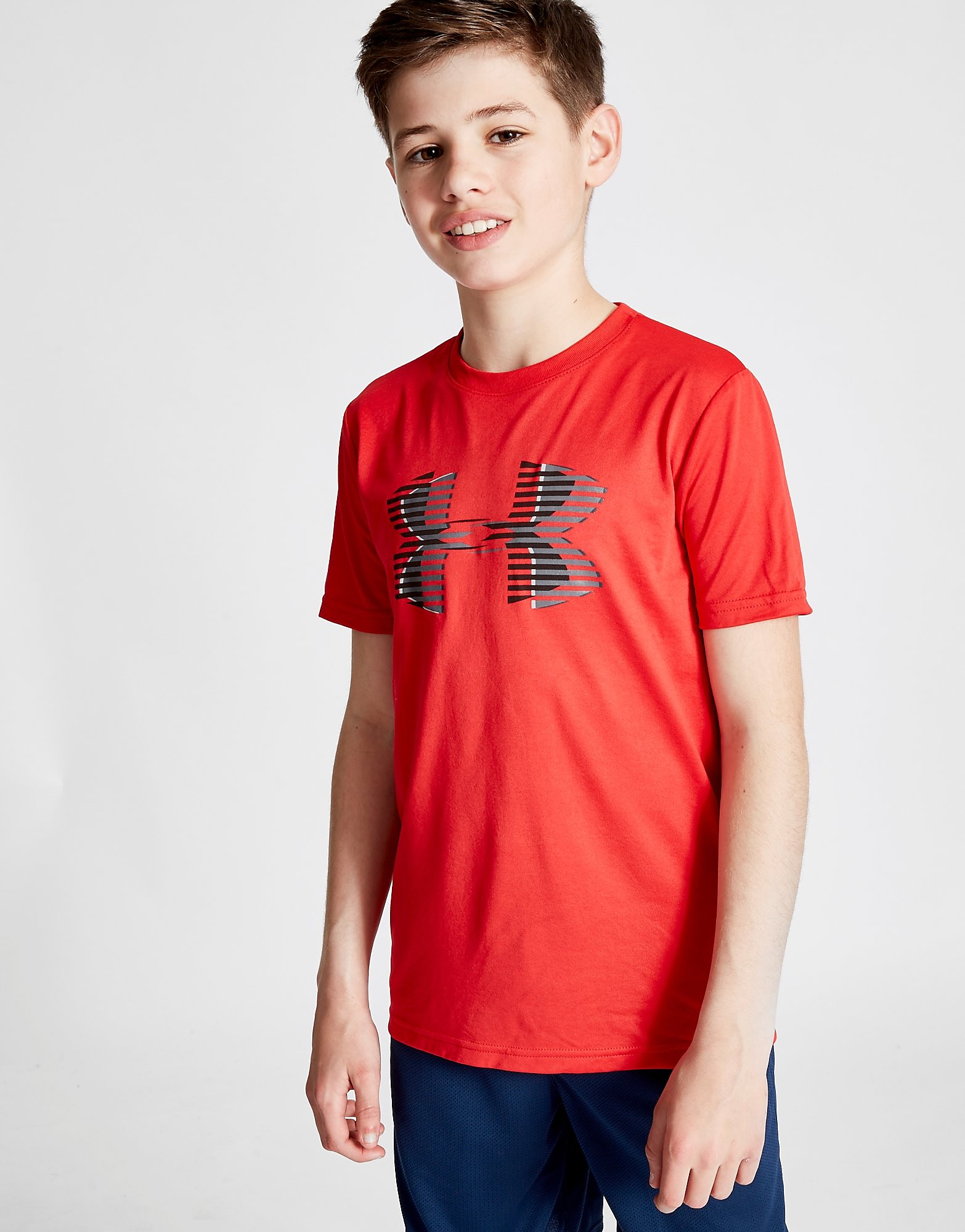 Under Armour Tech Big Logo T-Shirt Junior - Rood - Kind