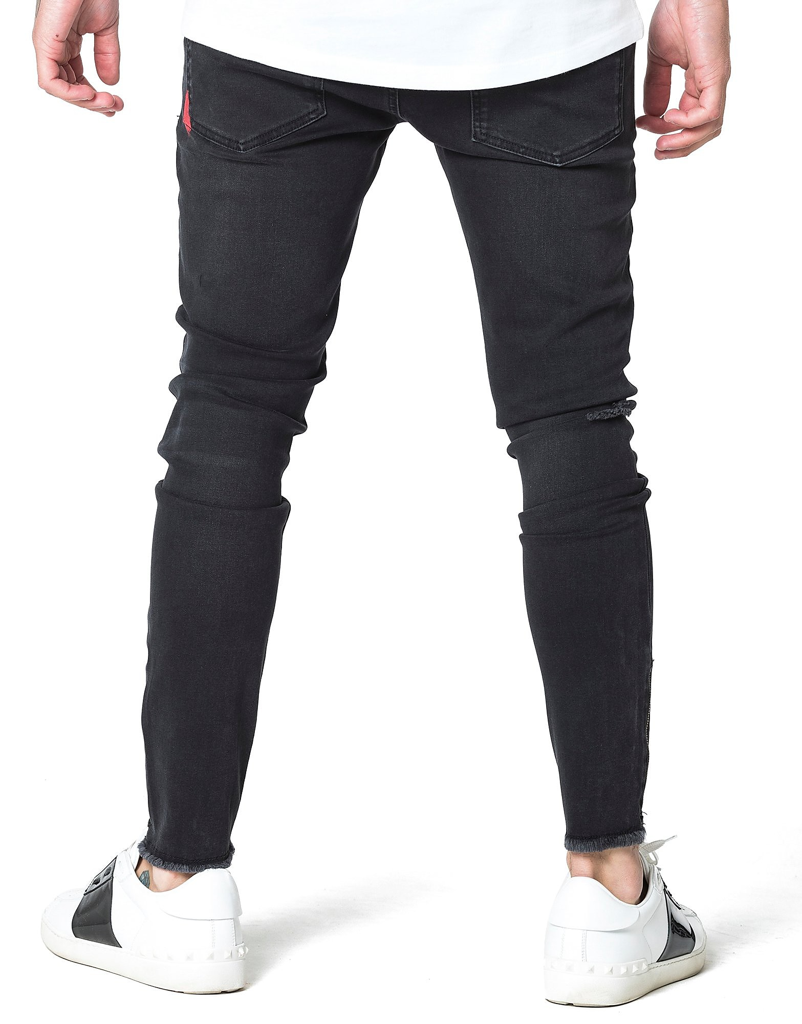 11 Degrees Ripped Knee Denim Jeans Homme