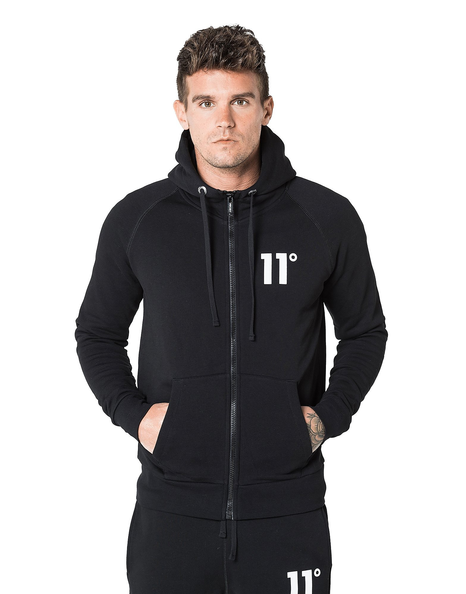11 Degrees Core Fleece Zip Through Hoody