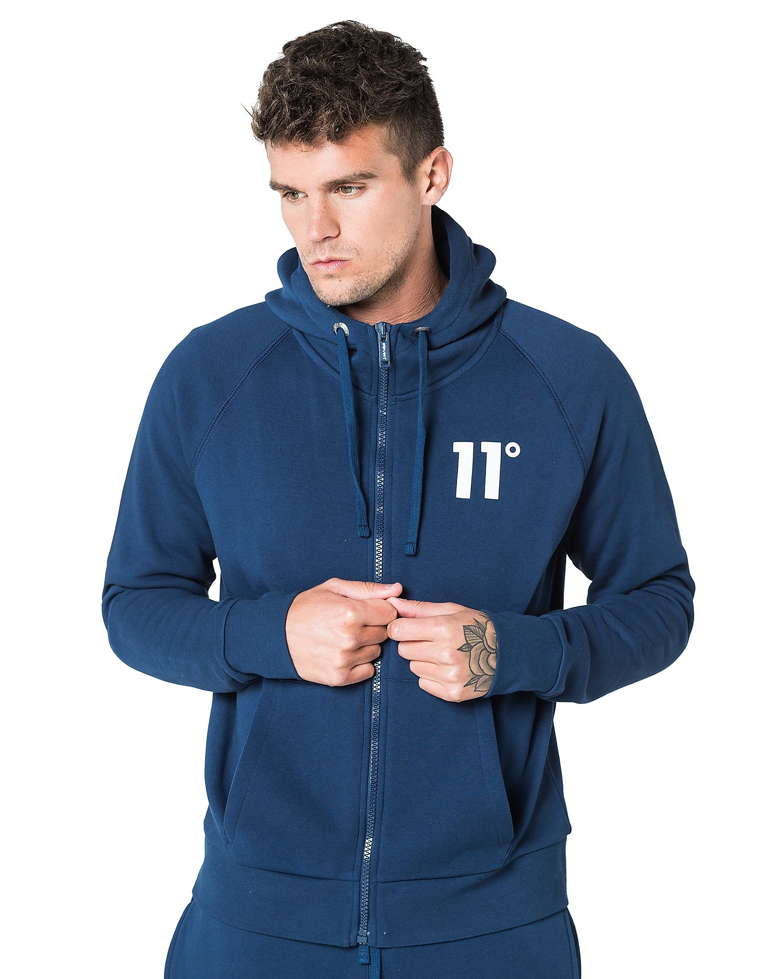 11 Degrees Core Fleece Zip Through Hoodie