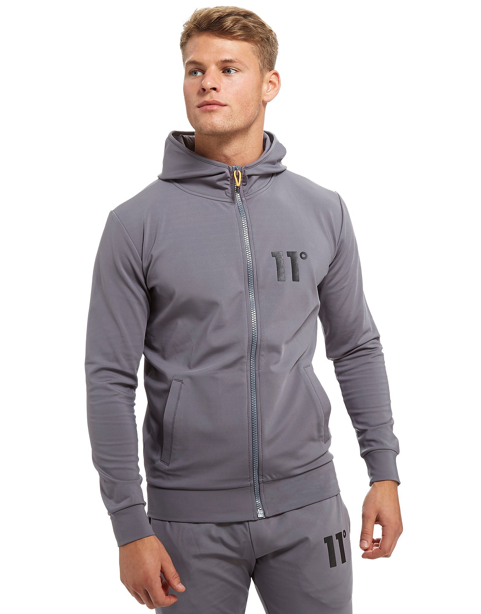 11 Degrees Sweat Core Poly Zip Homme - Charcoal, Charcoal