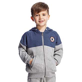 Converse Colour Block Full Zip Hoody Children