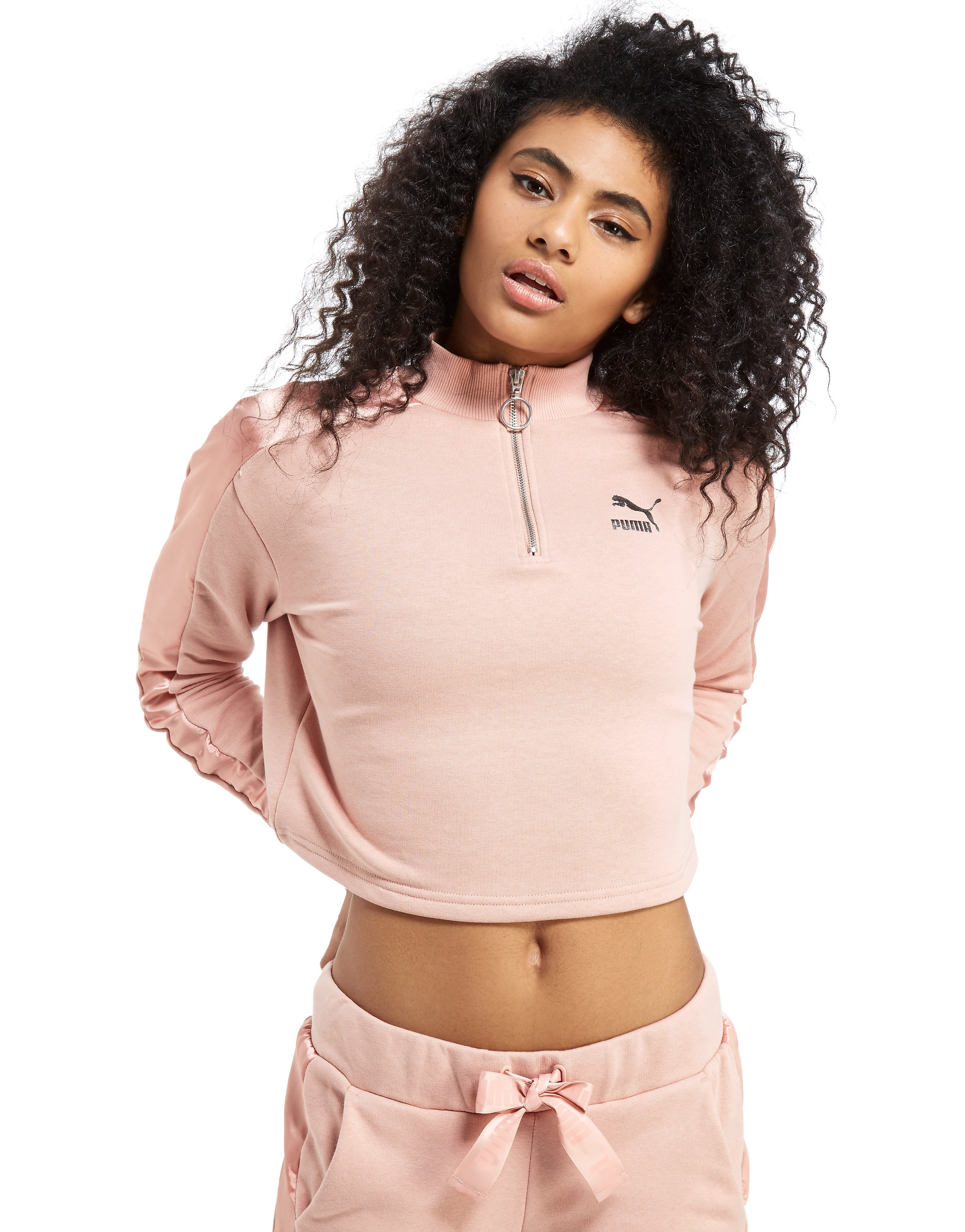 PUMA Satin 1/2 Zip Top