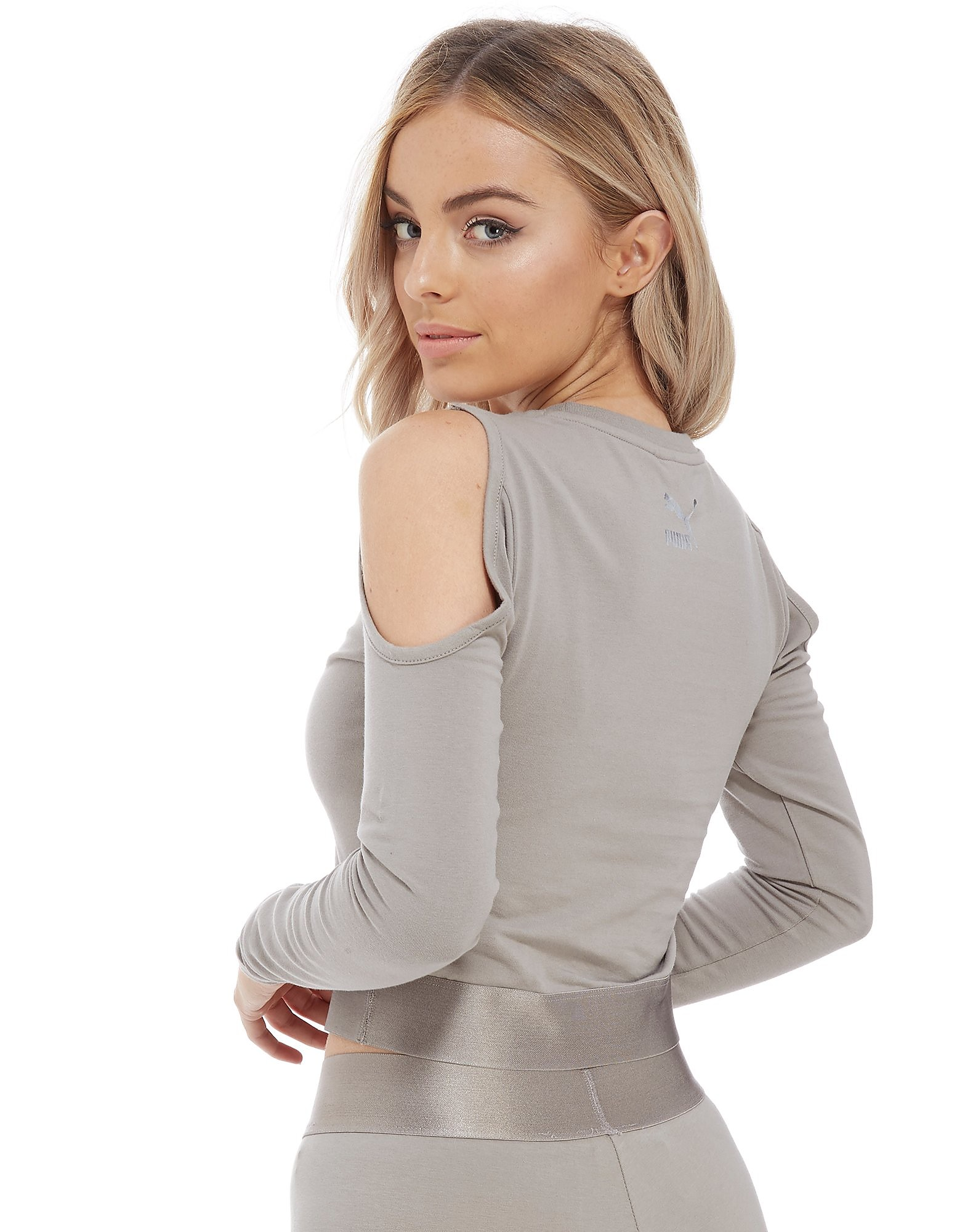 PUMA Long Sleeve Cold Shoulder Top