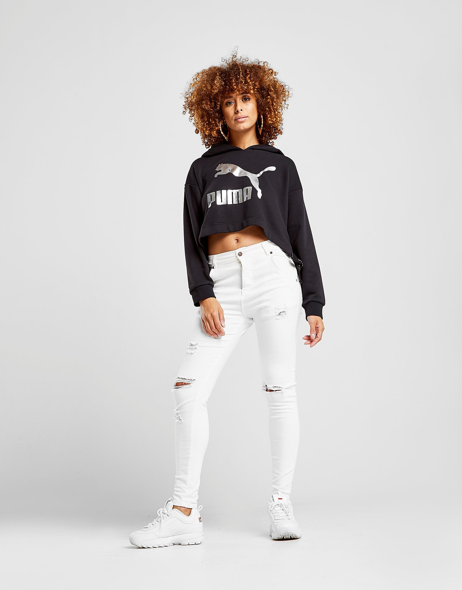 PUMA Bow Cropped Hoodie