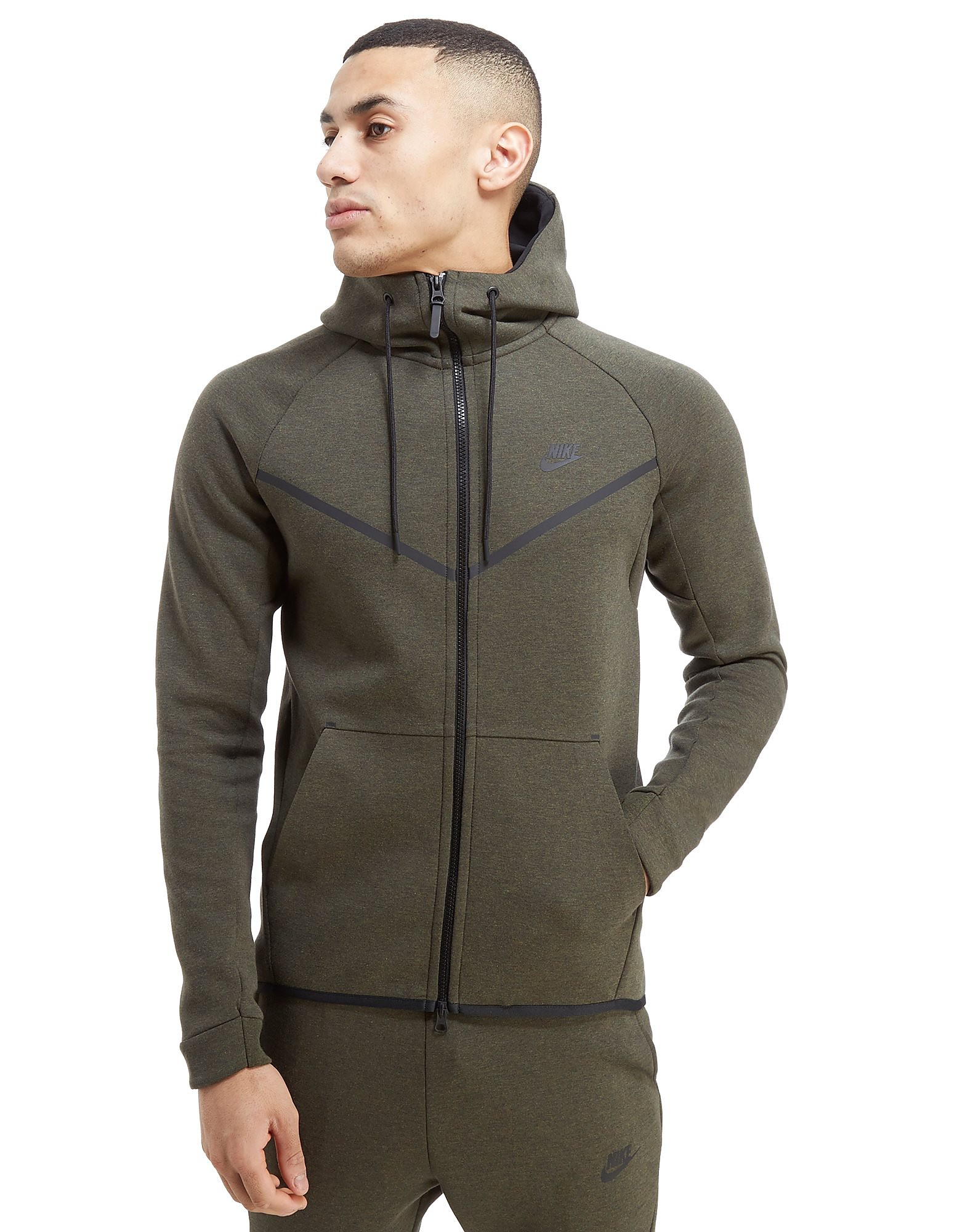 Nike Tech Fleece Windrunner Grün