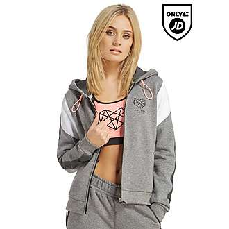 Pink Soda Sport Panel Zip Through Hoody