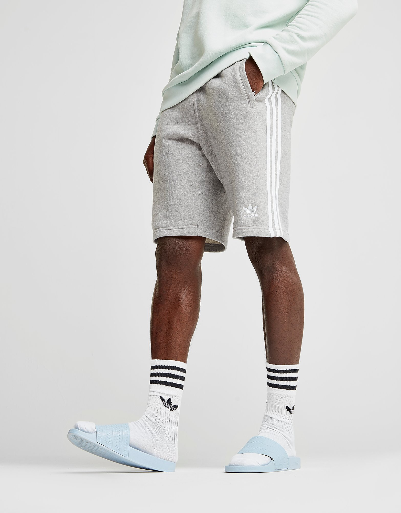 adidas Originals 3-Stripes Shorts Heren - Grijs - Heren