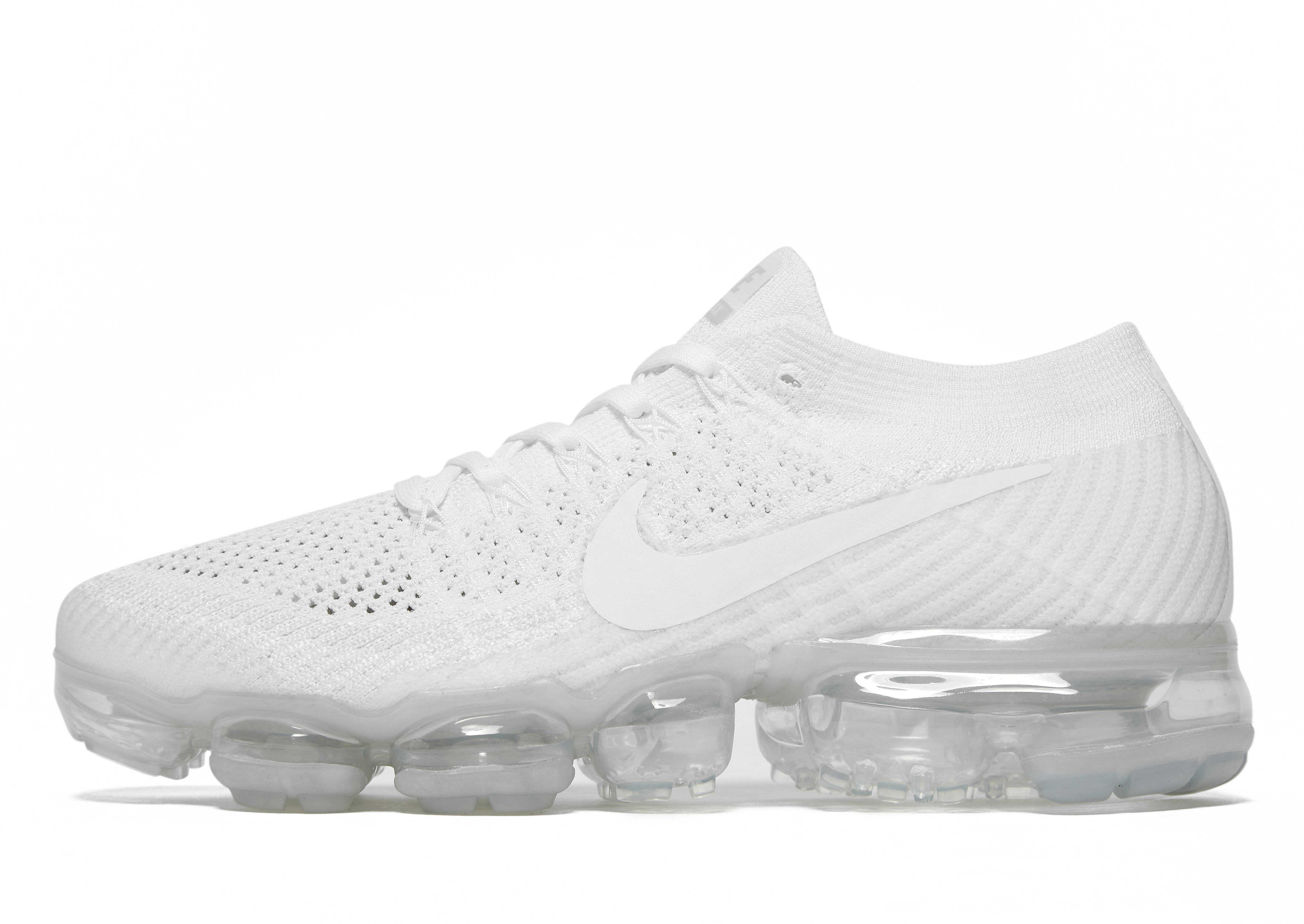 Nike Air VaporMax Flyknit - White/Grey - Mens, White/Grey