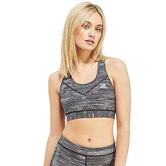 adidas Techfit Heather Print Sports Bra
