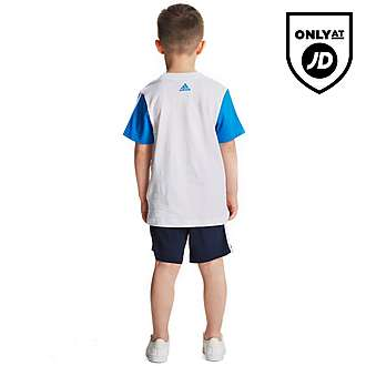 adidas Linear T-Shirt and Short Set Children
