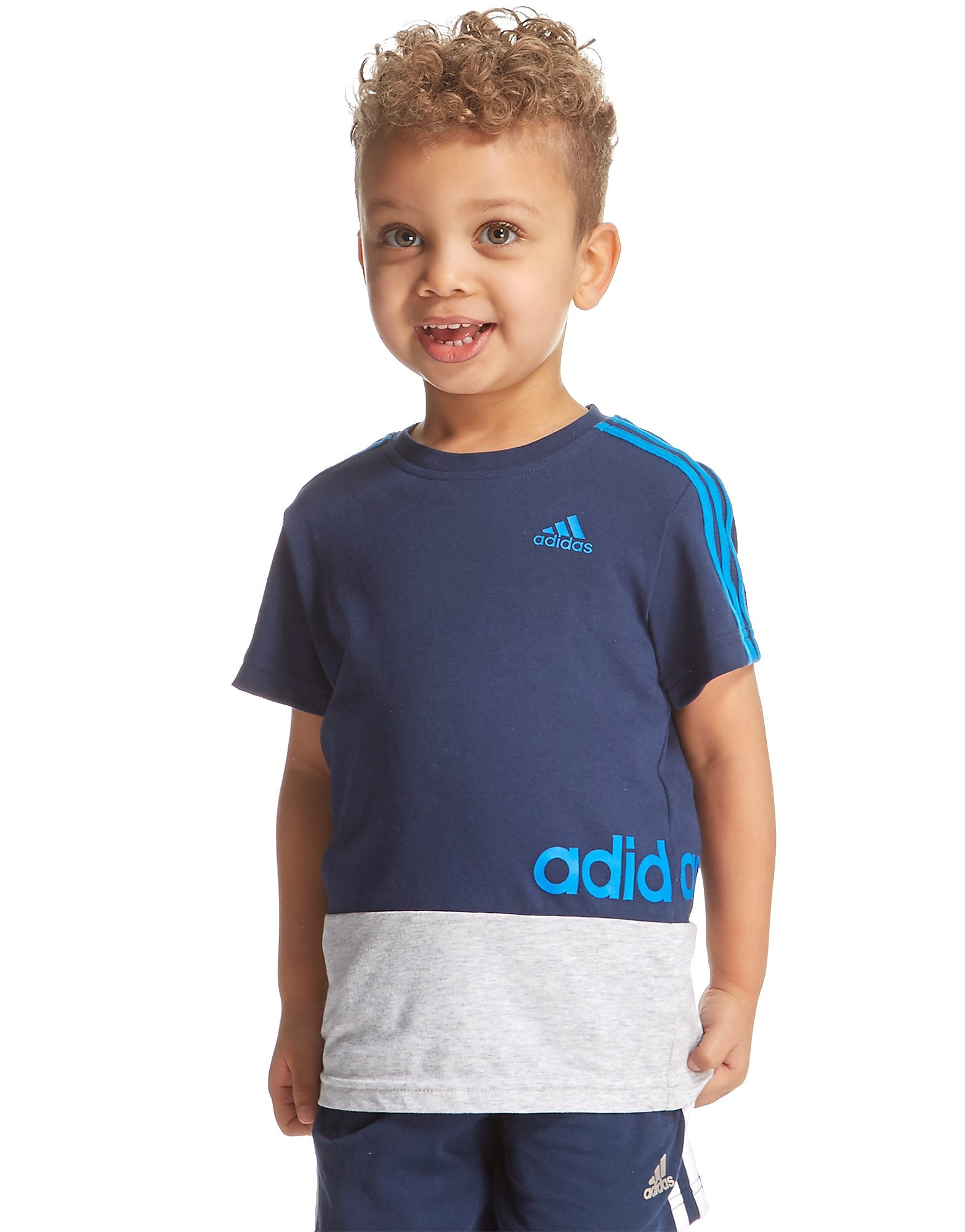 adidas Linear Colour Block T-Shirt Infant