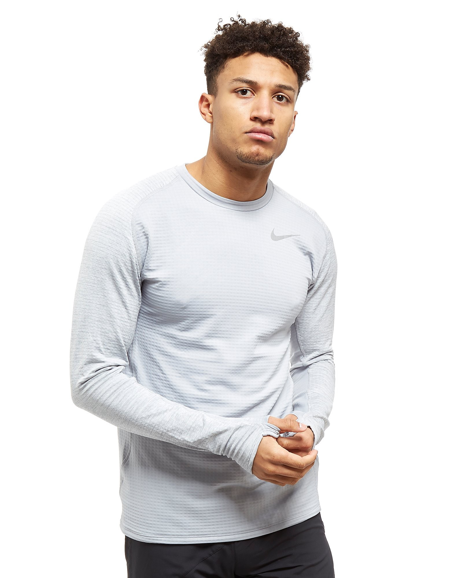 Nike Thermal Sphere Crew Running Top Heren - Grijs - Heren