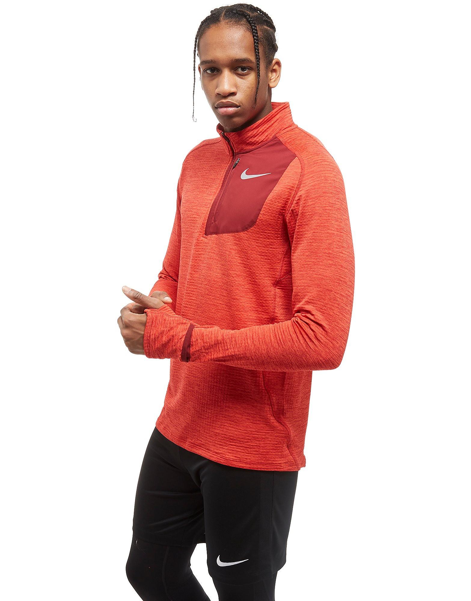 Nike Sphere Element 1/2 Zip Running Top Heren - Rood - Heren