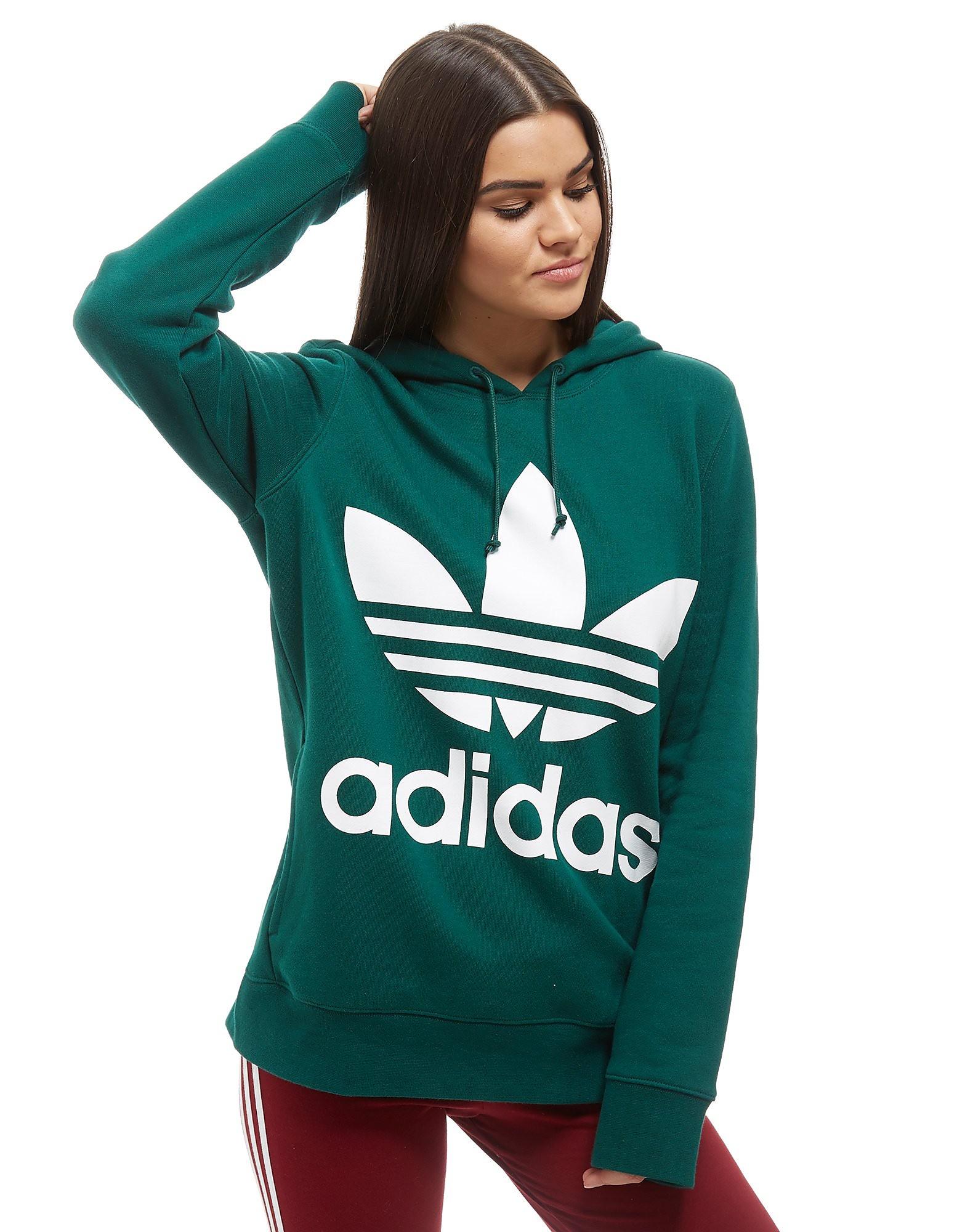 adidas Originals Sweat à capuche Trefoil Femme - vert/blanc, vert/blanc