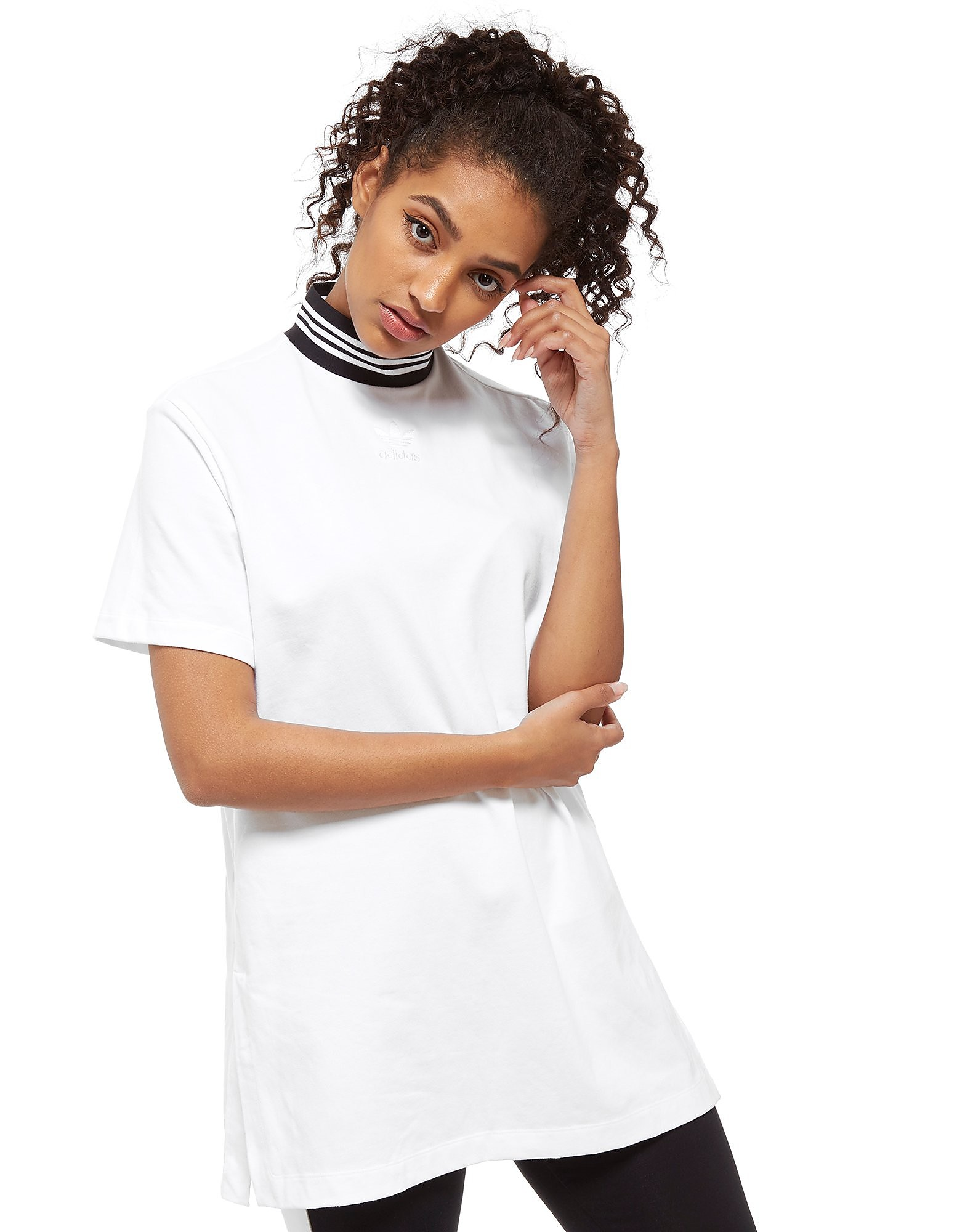 adidas Originals High Neck Short Sleeve T-Shirt Dress