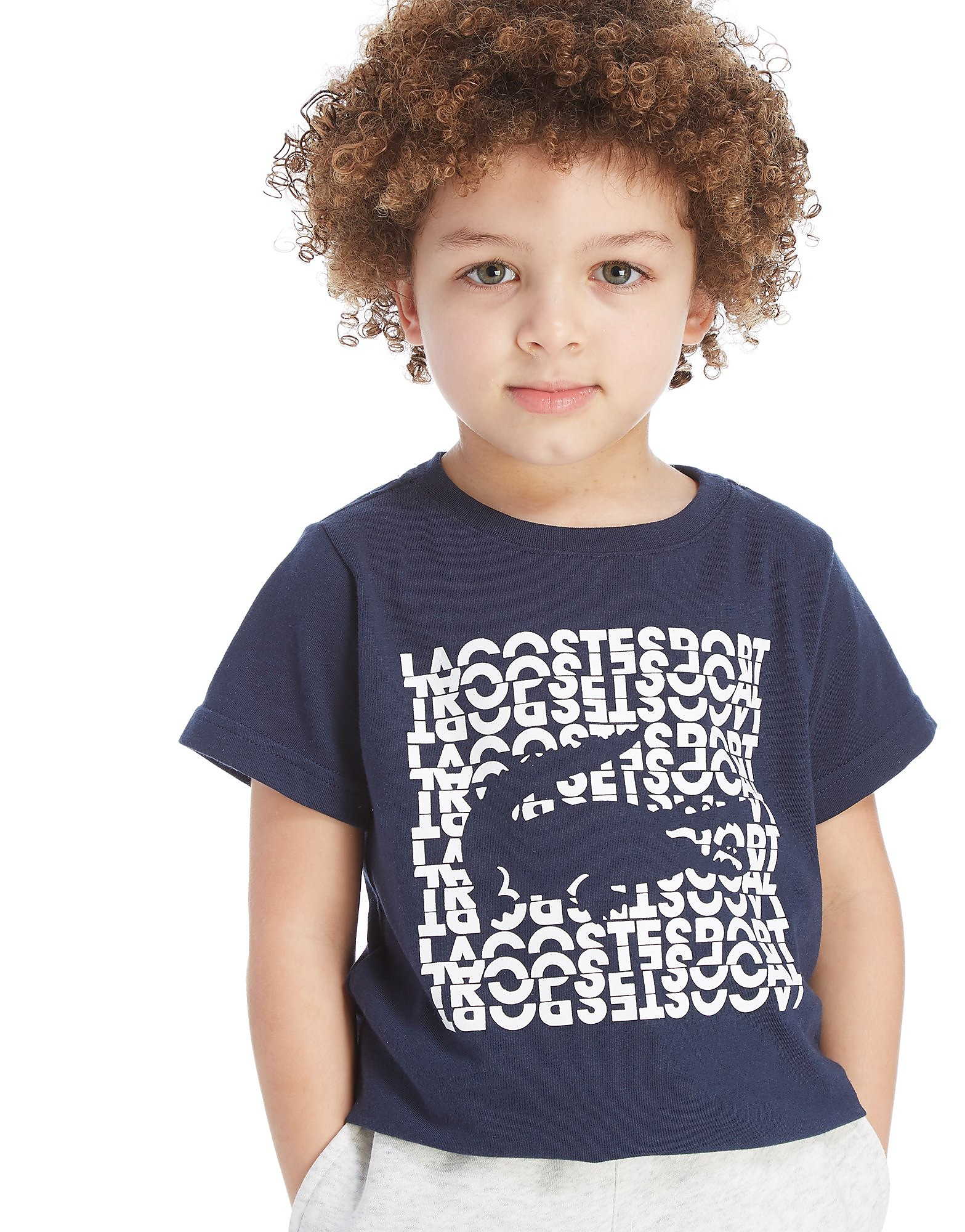 Lacoste Logo Croc T-Shirt Kinderen - Blauw - Kind