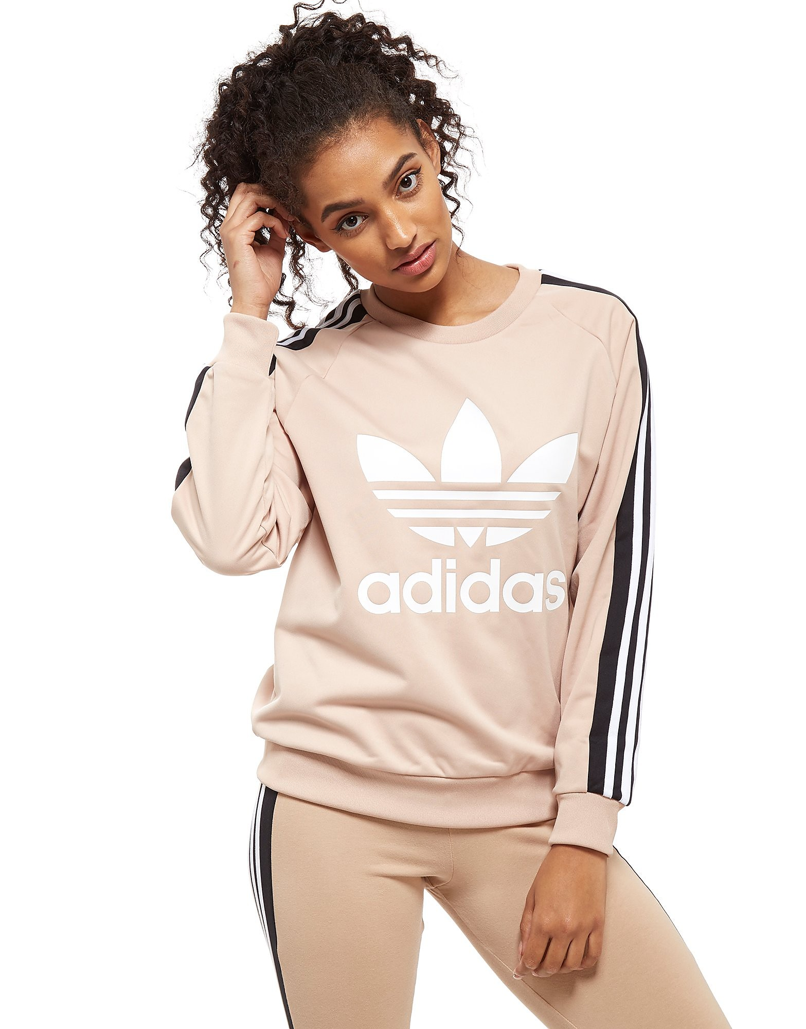 adidas Originals 3-Stripe Panel Crew Sweatshirt
