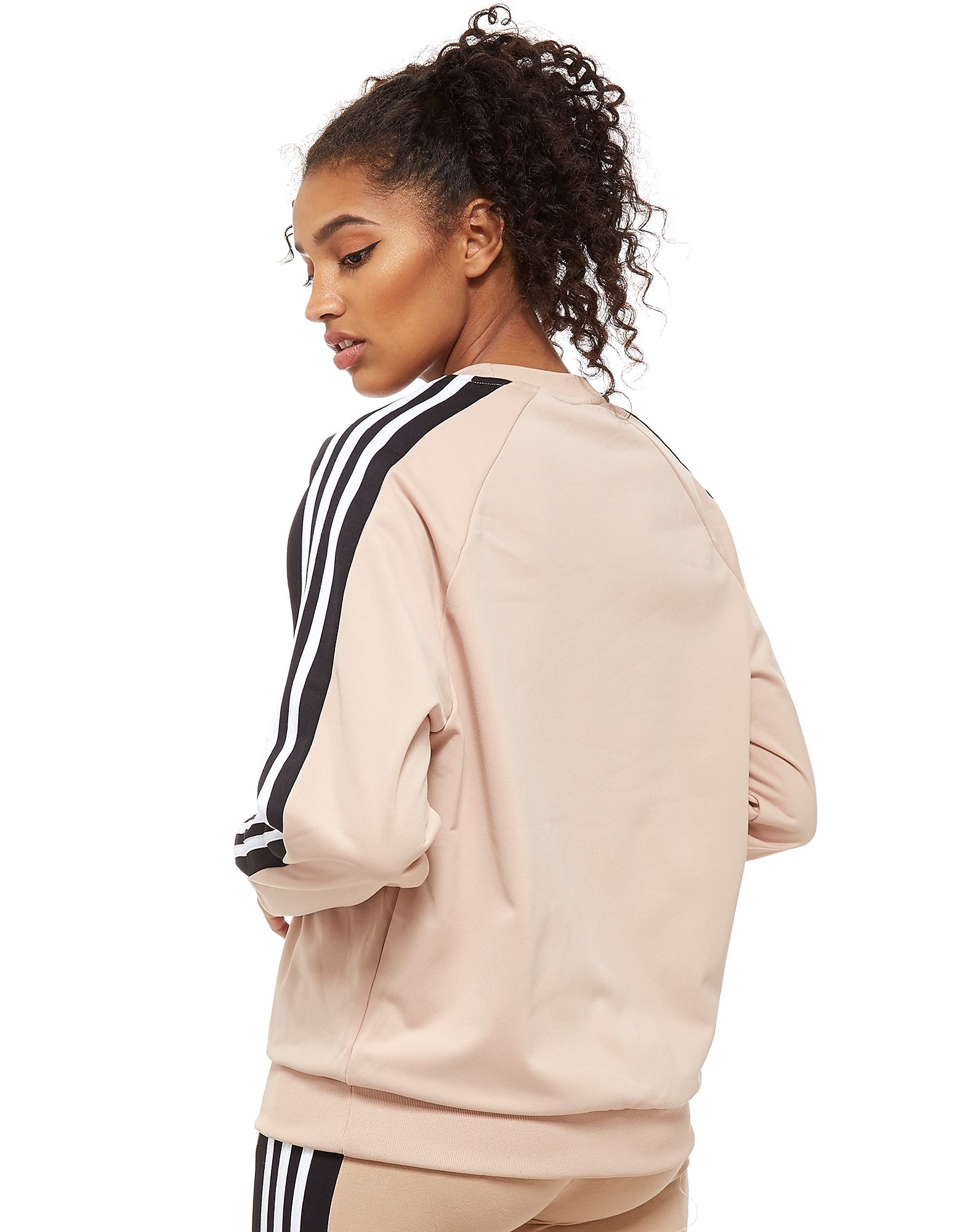 adidas Originals 3-Stripe Panel Crew Felpa Donna