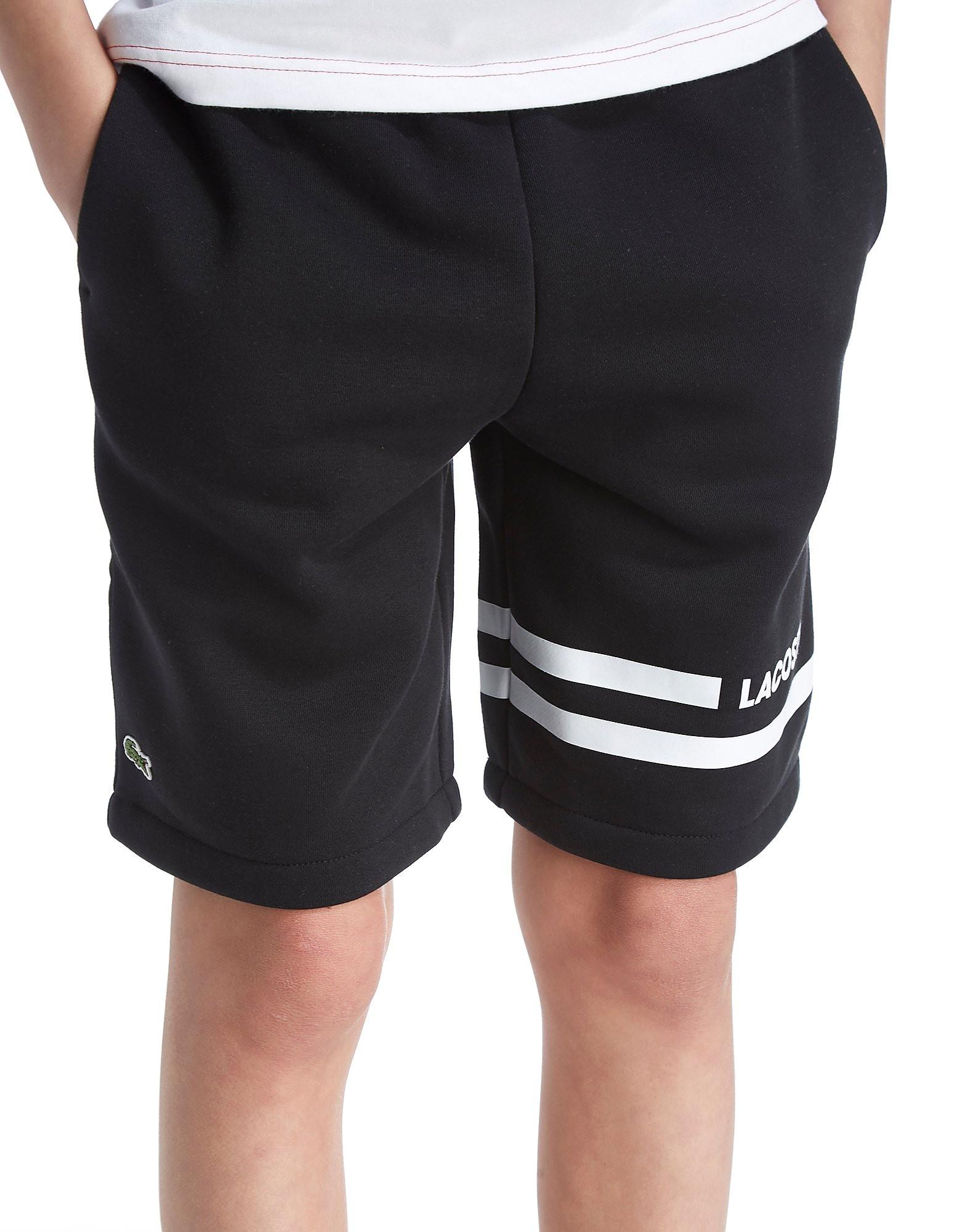 Lacoste Fleece Shorts Junior - Zwart - Kind