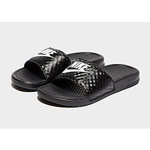 new products 3e5c0 40774 ... Nike Benassi Just Do It Slides Women s