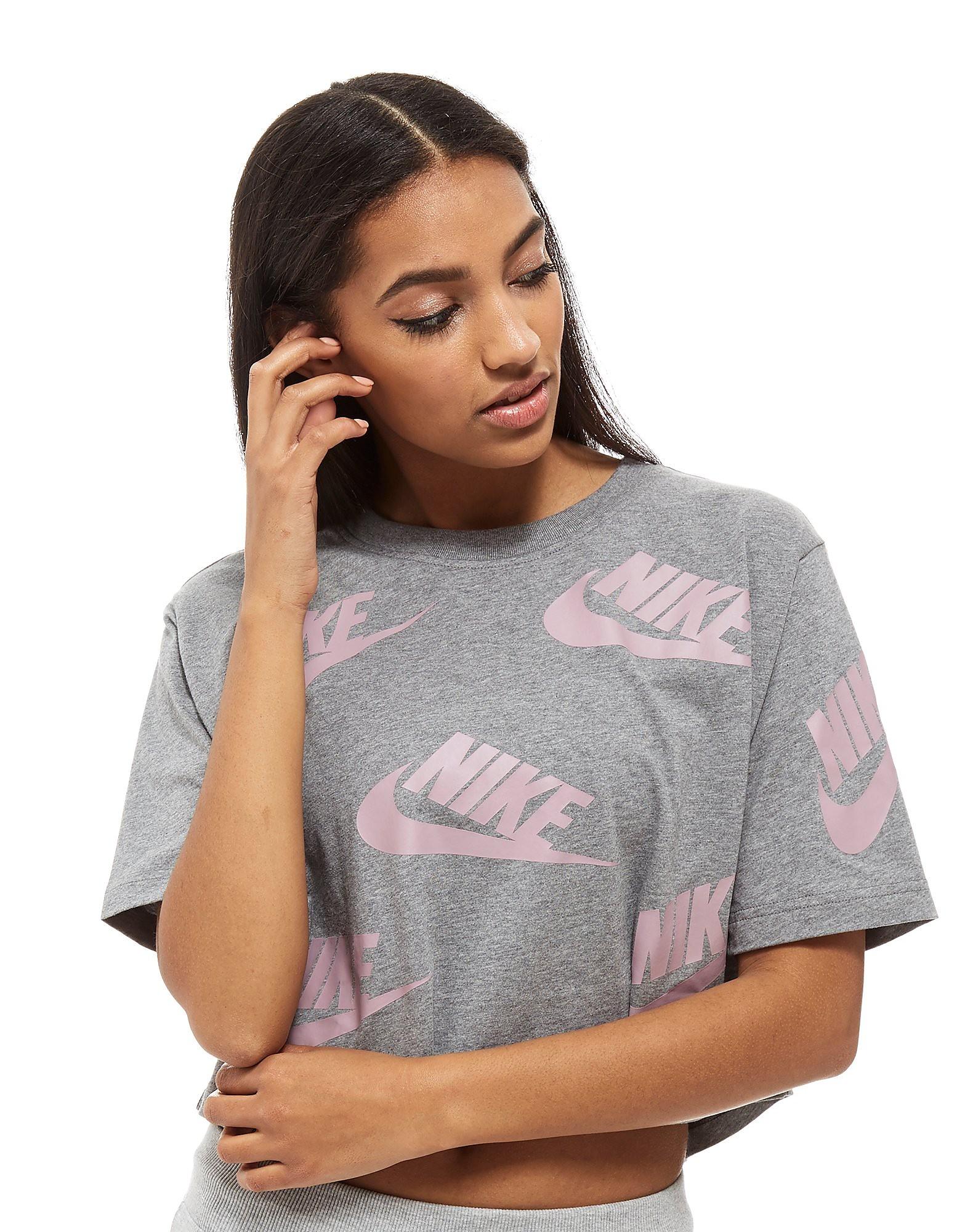 Nike crop top Futura All-Over-Print