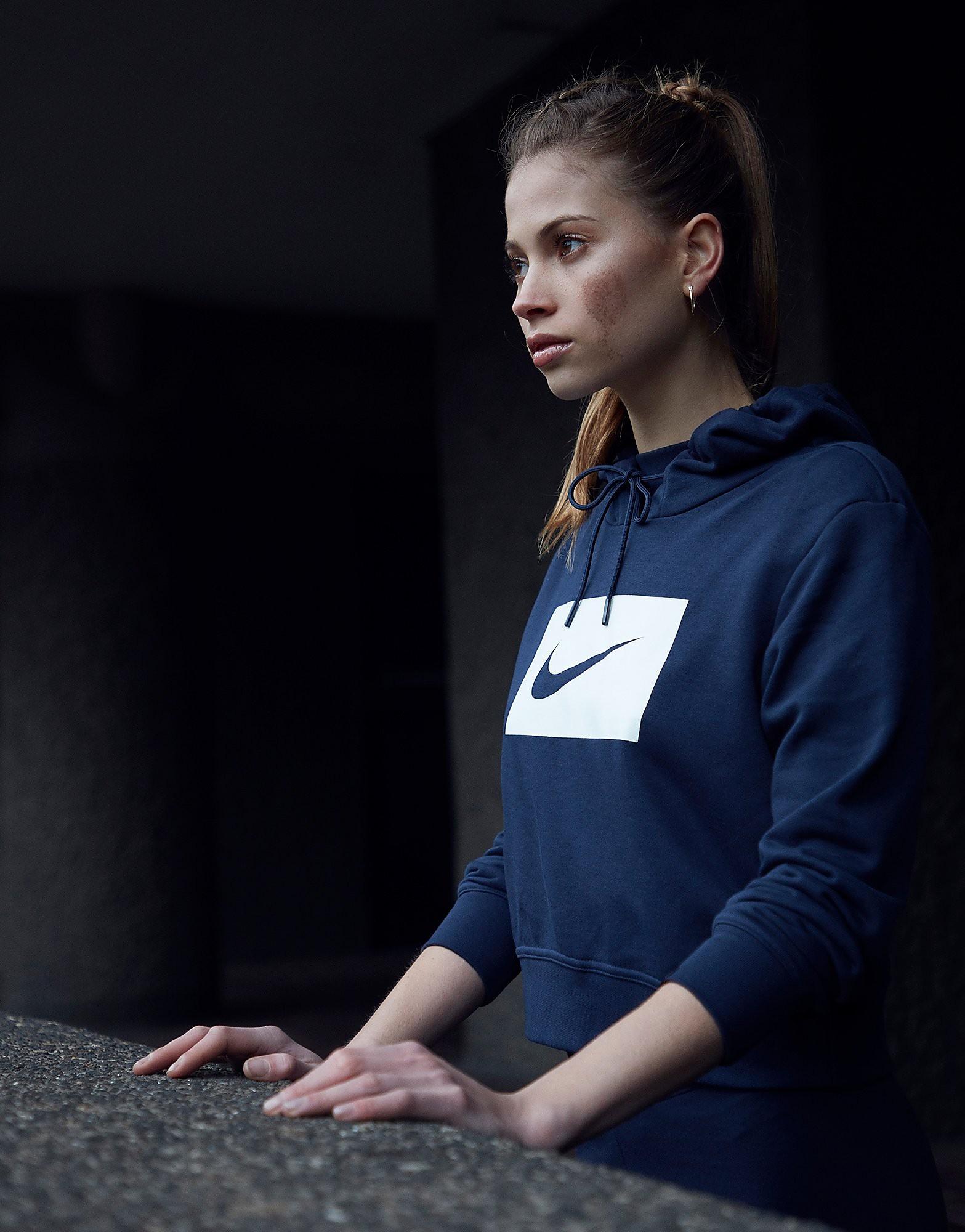 Nike Sweat à capuche coupe courte Swoosh Box Crop Femme