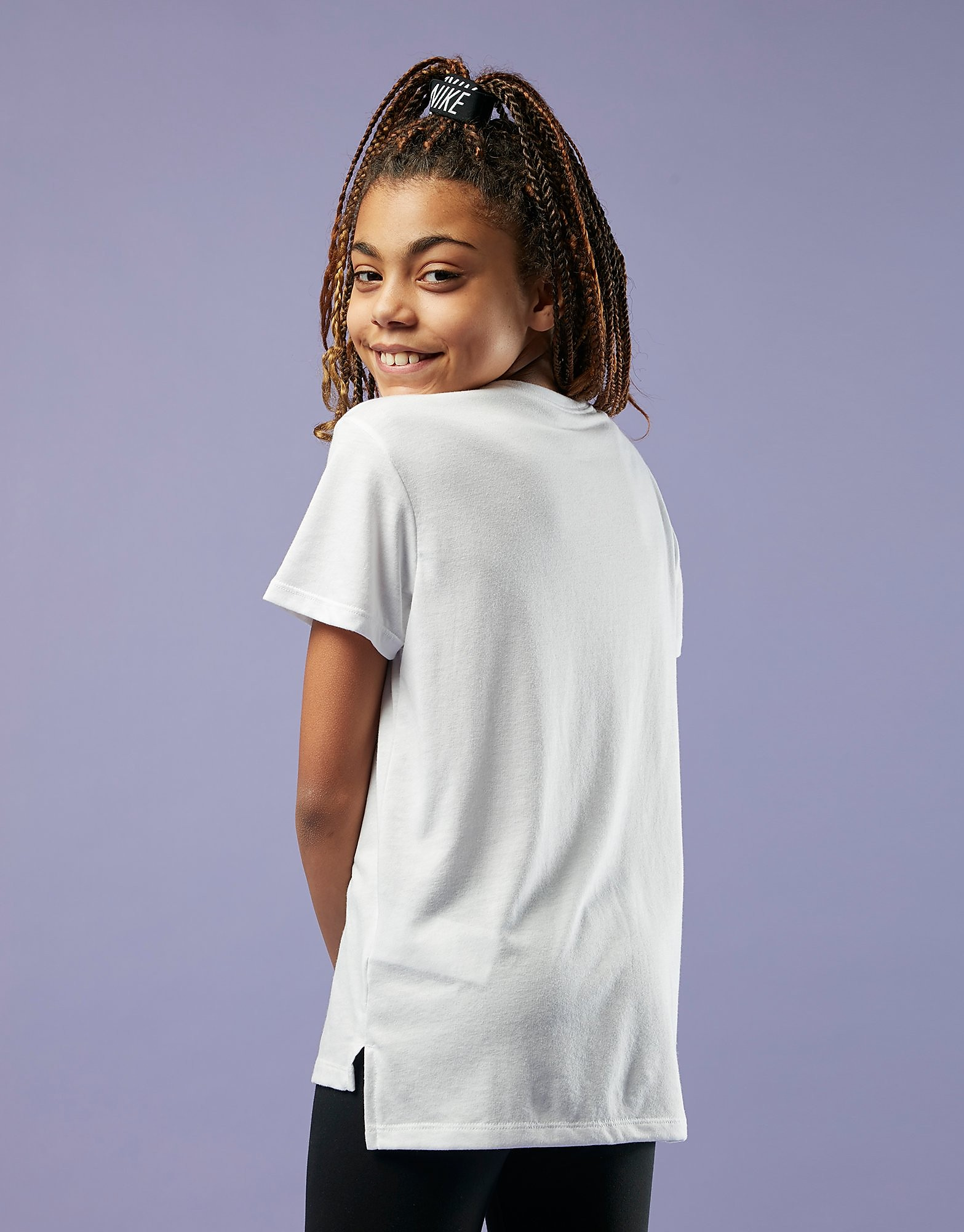 Nike camiseta Girls' Stack Just Do It júnior