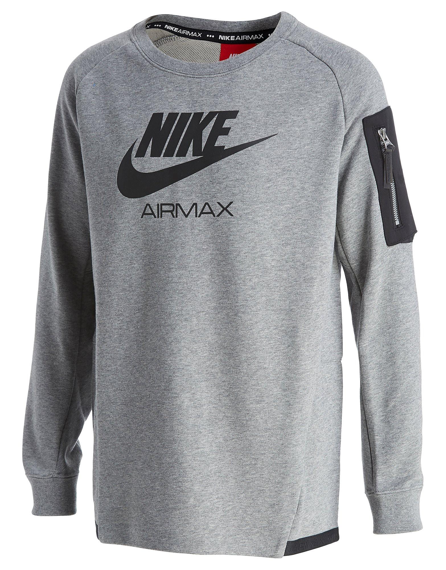 Nike Air Max Crew Sweatshirt Junior - alleen bij JD - Carbon/Black - Kind