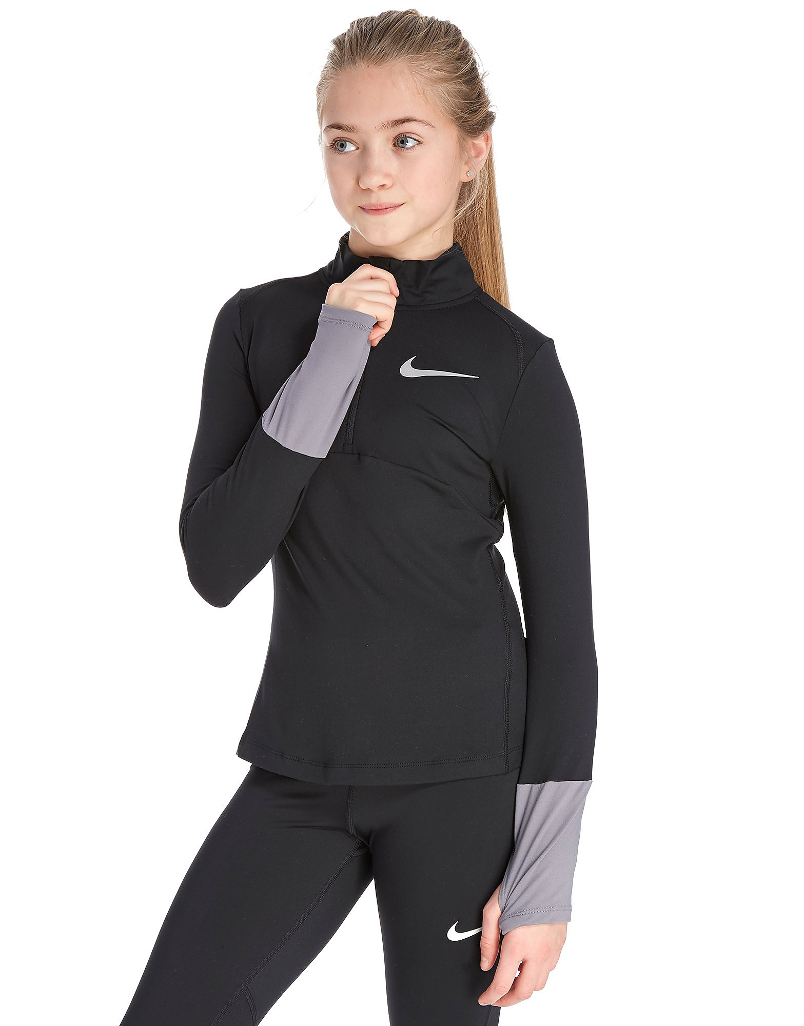 Nike camiseta de running Girls' 1/4 Zip Element júnior