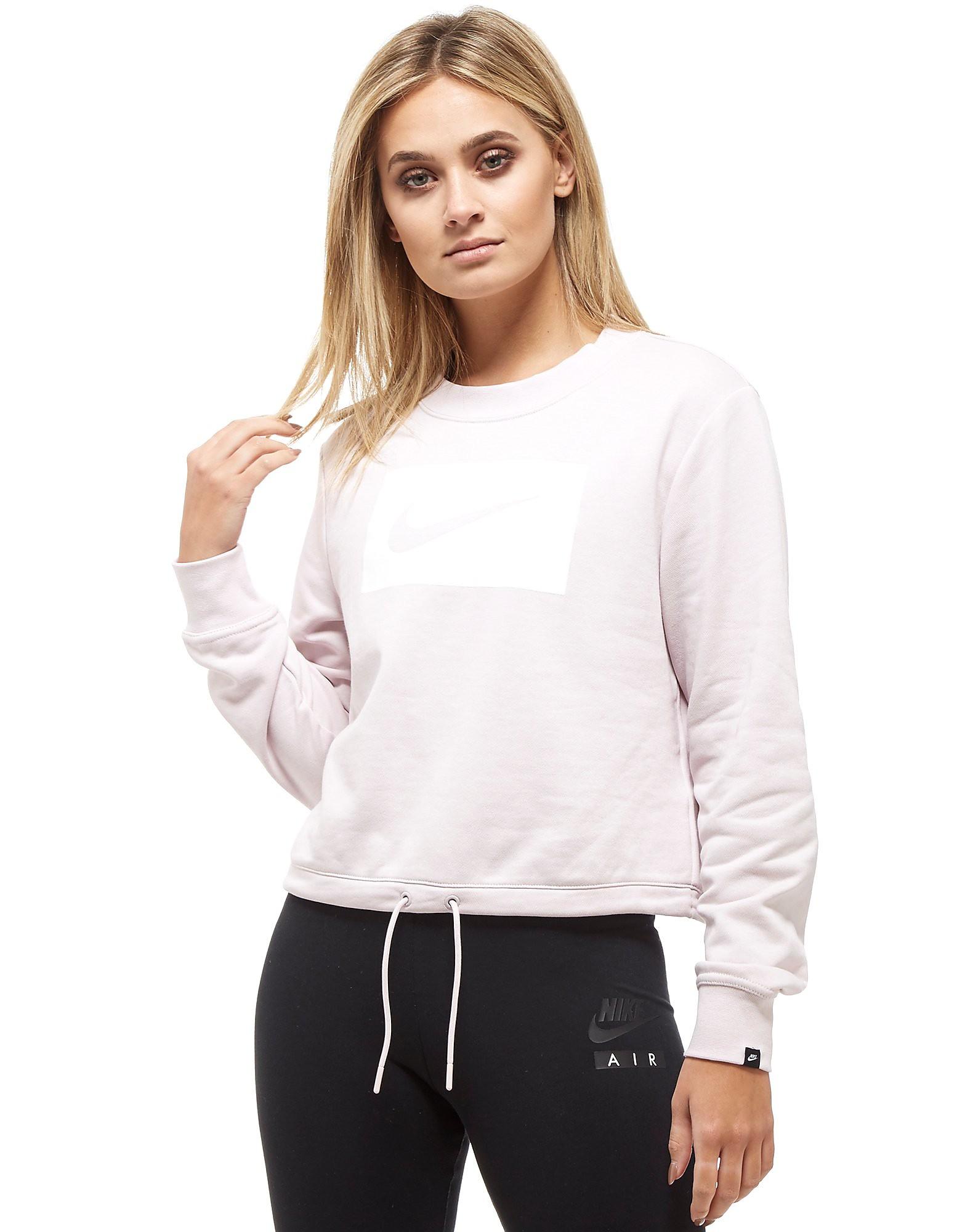 Nike Swoosh Box Cropped Crew Sweatshirt