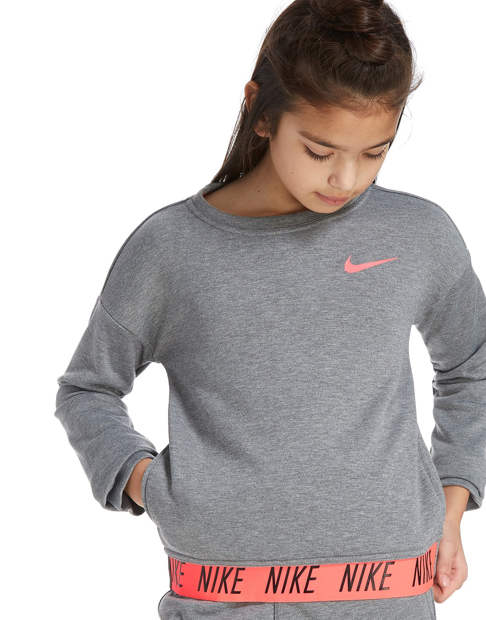 Nike Girls' Training Crew Top Junior