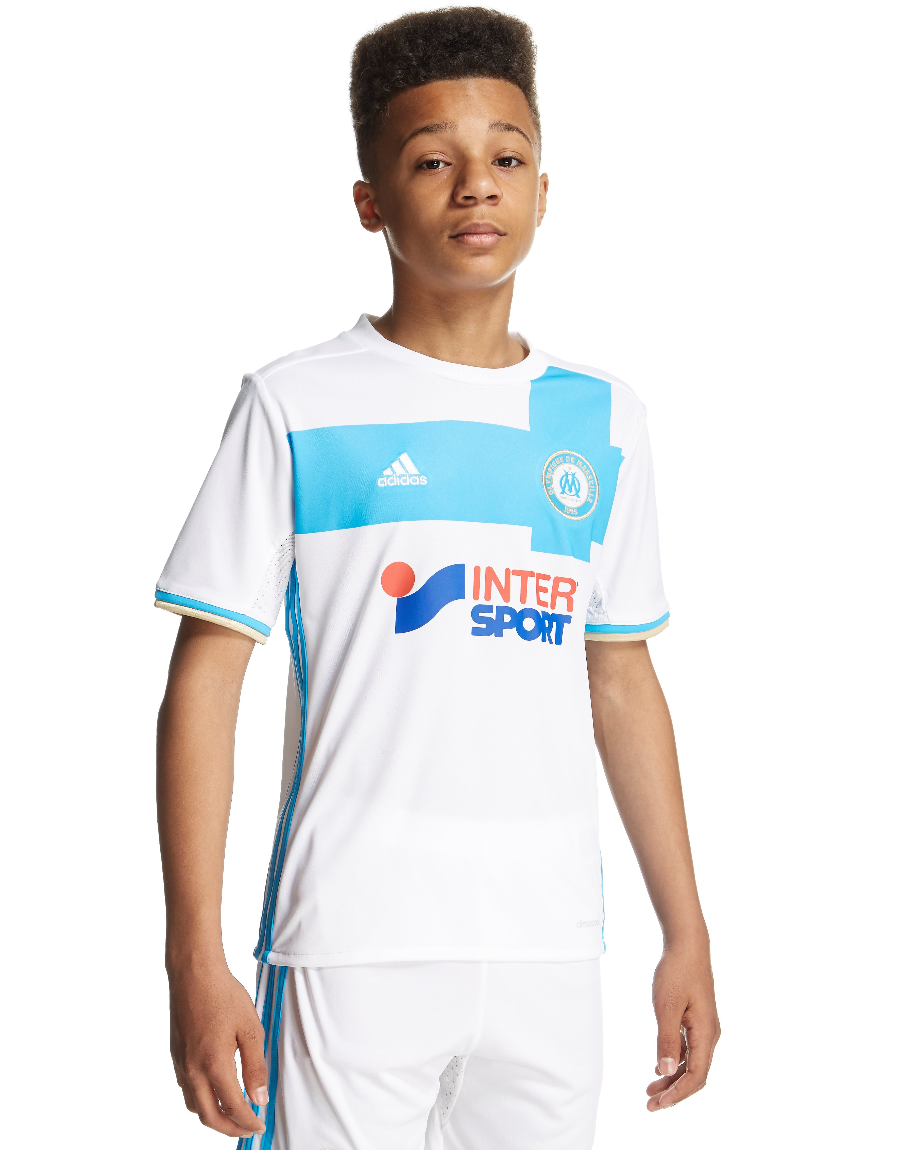 adidas Olympique Marseille 2016/17 Home Shirt Junior