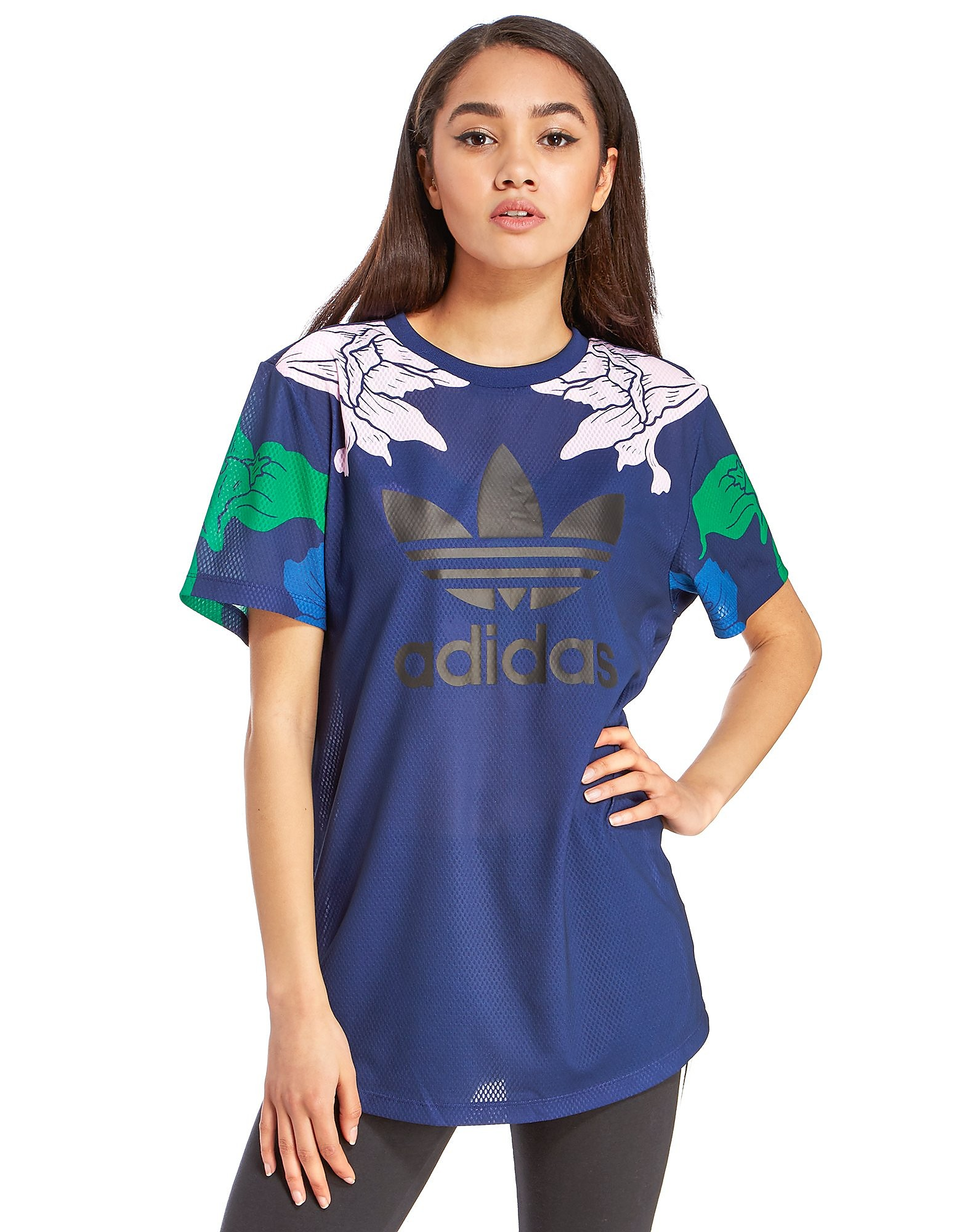 adidas Originals Floral Engraving Boyfriend T-Shirt
