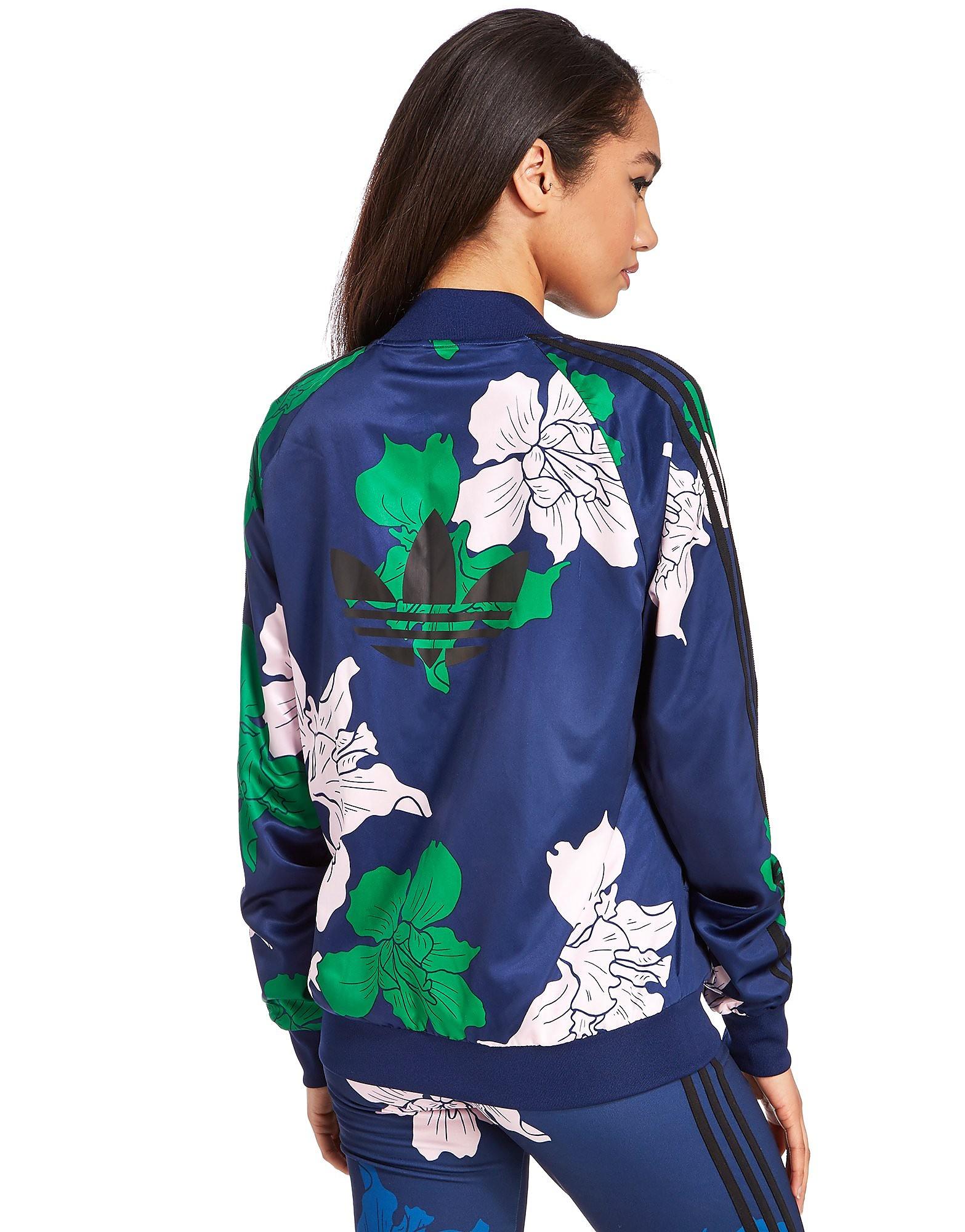 adidas Originals Floral Engraving Superstar Track Top
