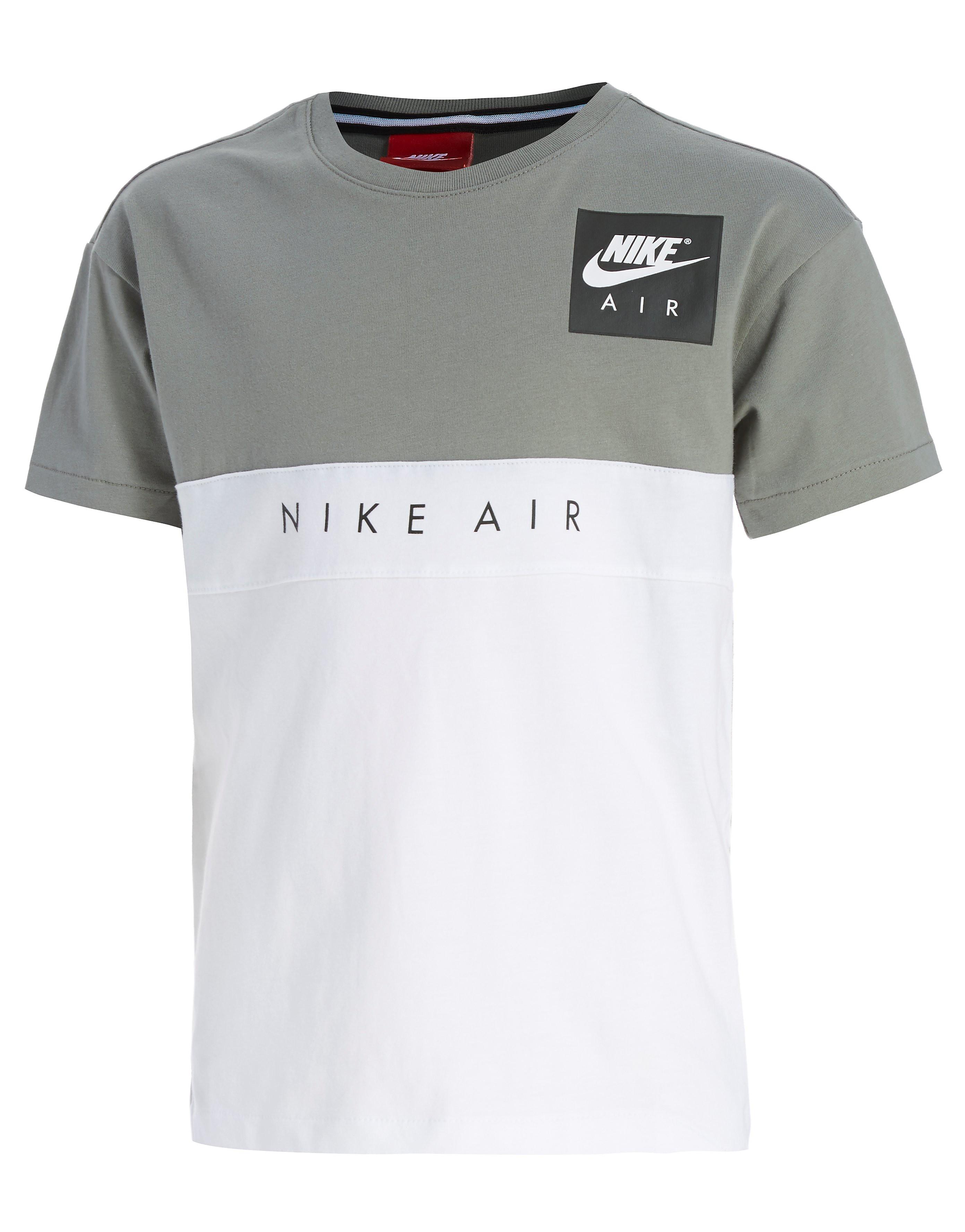 Nike T-shirt Air Colourblock Junior - blanc/gris, blanc/gris