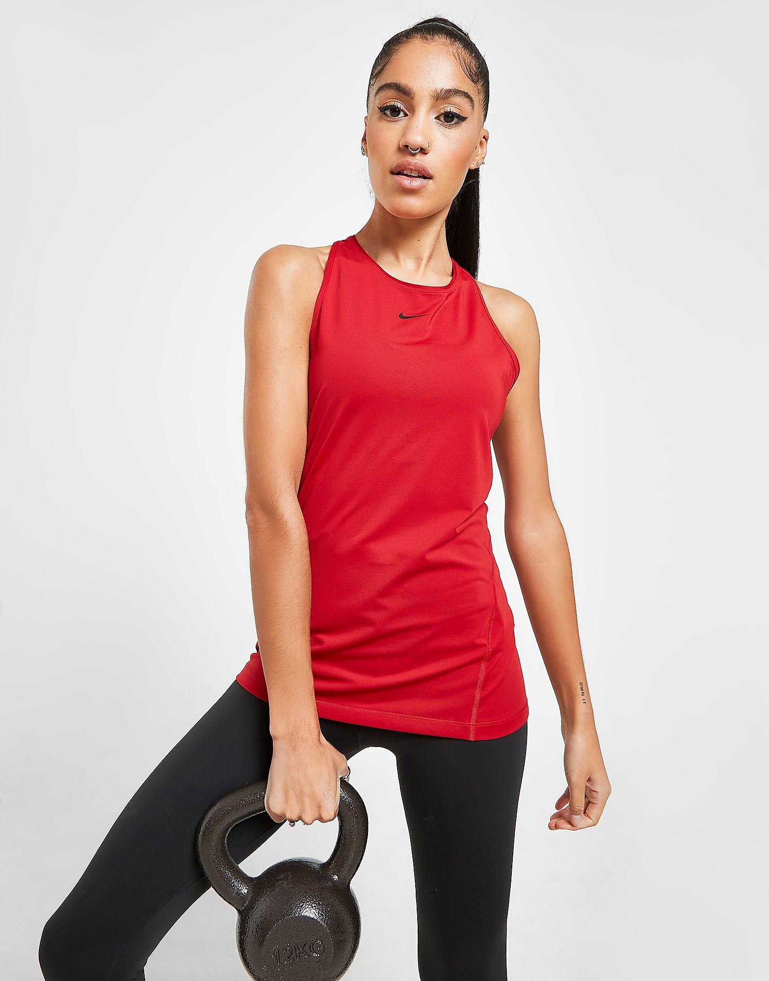 Nike Débardeur Pro Femme - Rose/Black, Rose/Black