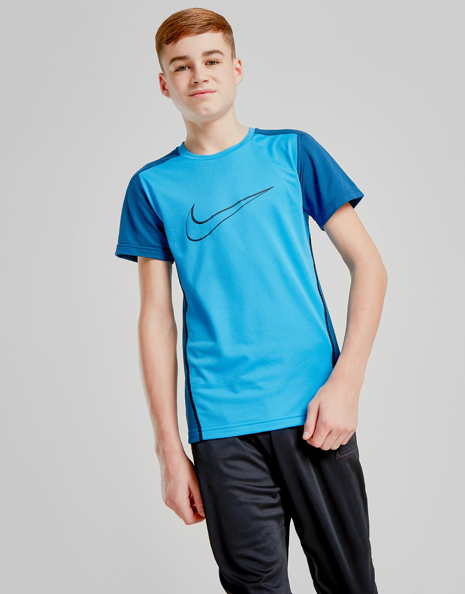 Nike Swoosh Poly T-Shirt Junior