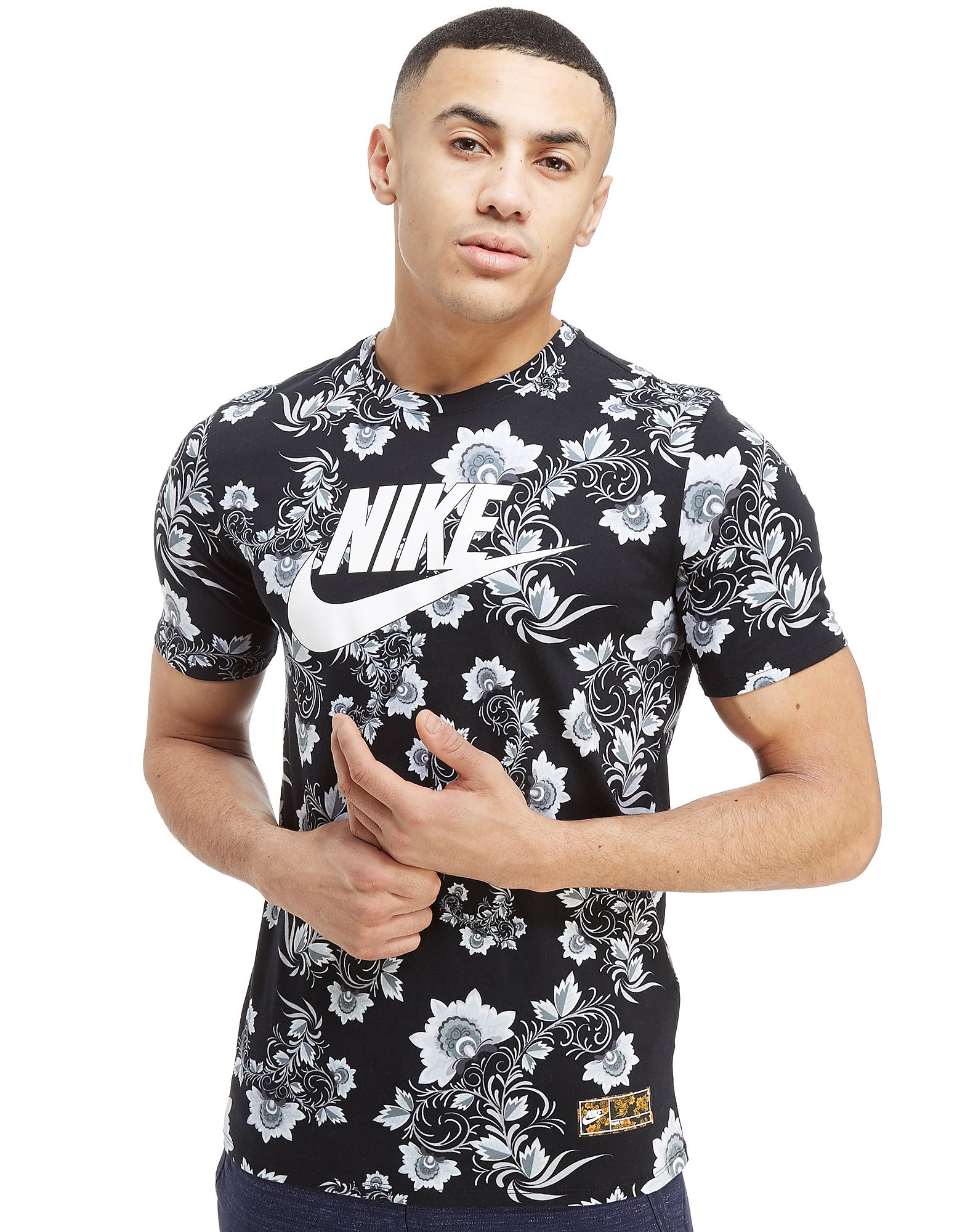 Nike Floral All Over Print T-Shirt Herre
