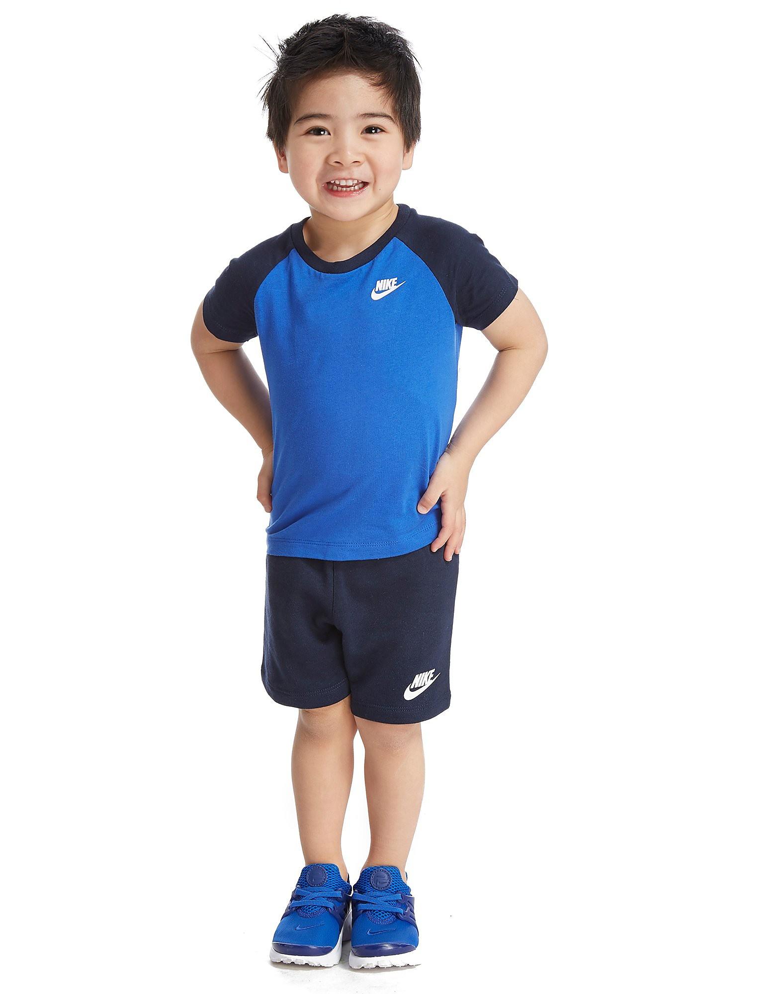 Nike T-Shirt/Shorts Set Baby's - Blauw - Kind